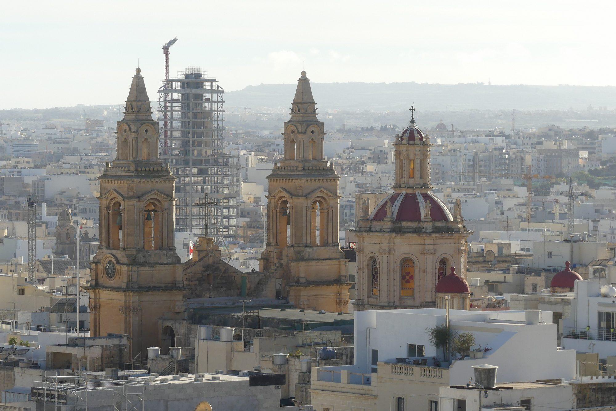Blick über Malta von Sliema aus