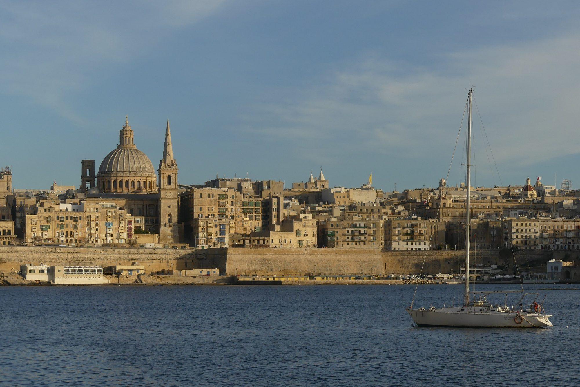 Blick auf Valletta Malta