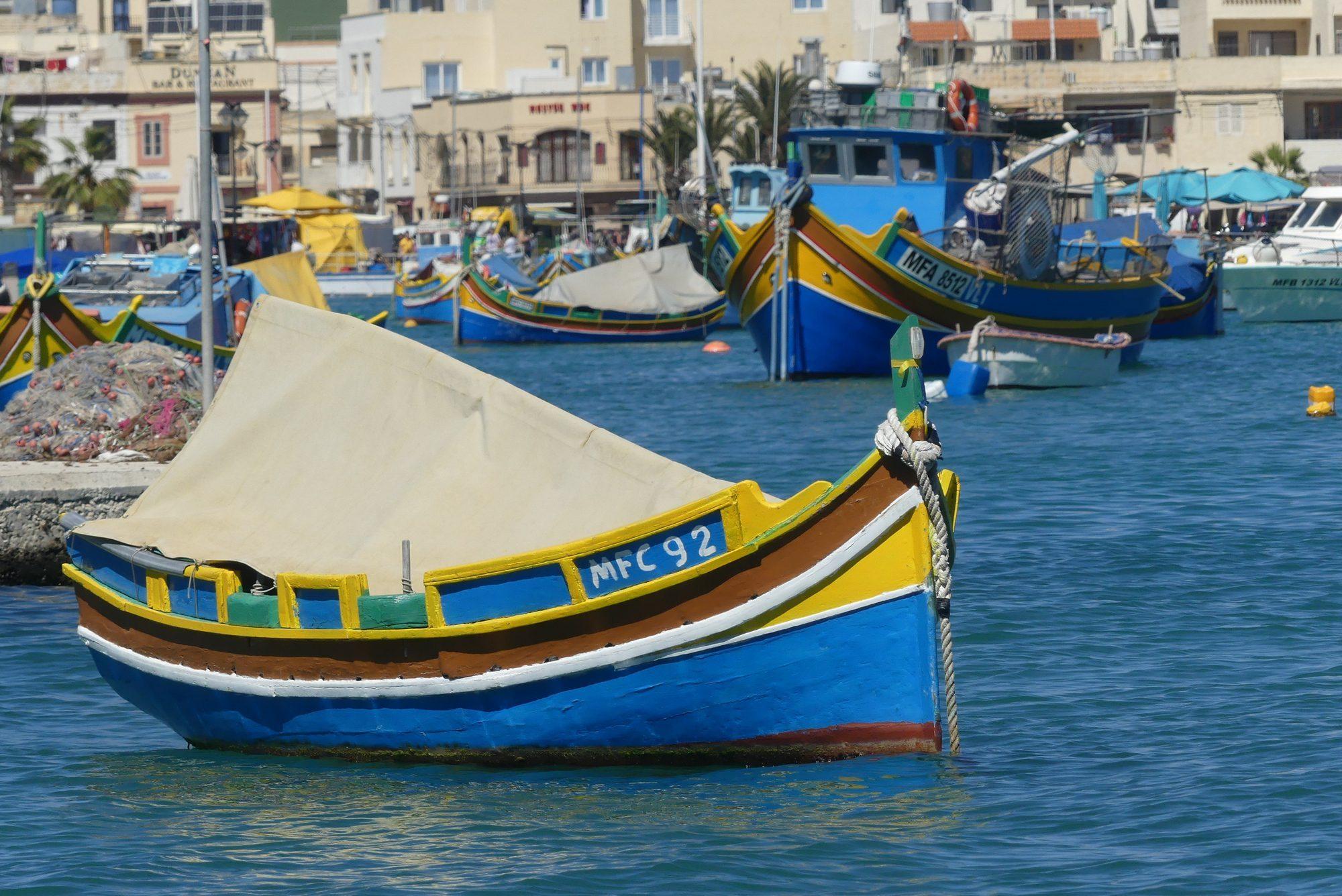 Luzzu in Marsaxlokk Malta