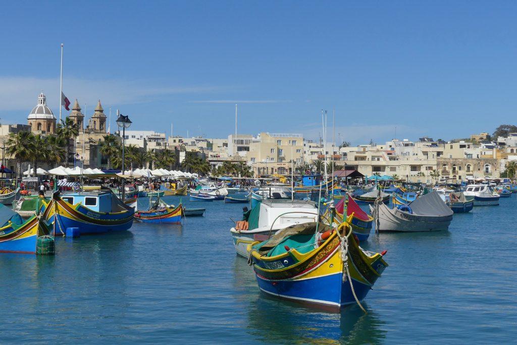 Marsaxlokk Malta Hafen