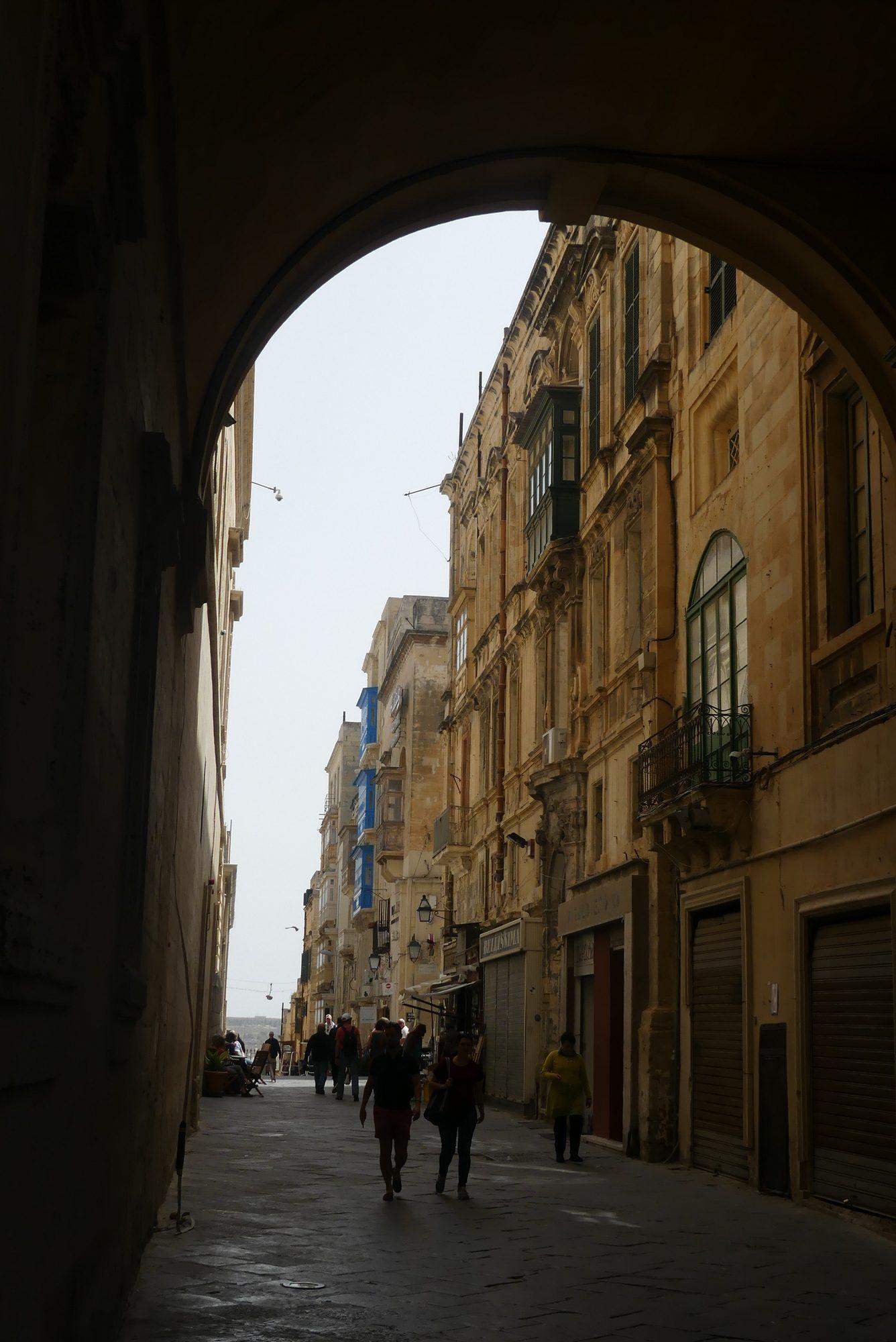 Straße in Valletta Malta