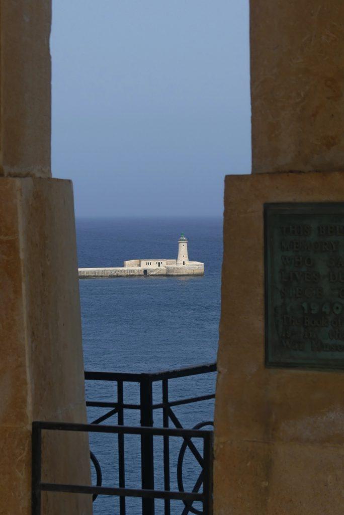 Leuchtturm Hafeneinfahrt Valletta Malta