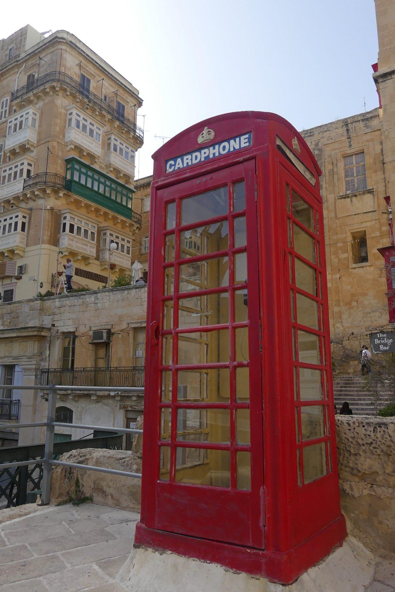 Telefonzelle in Valletta Malta