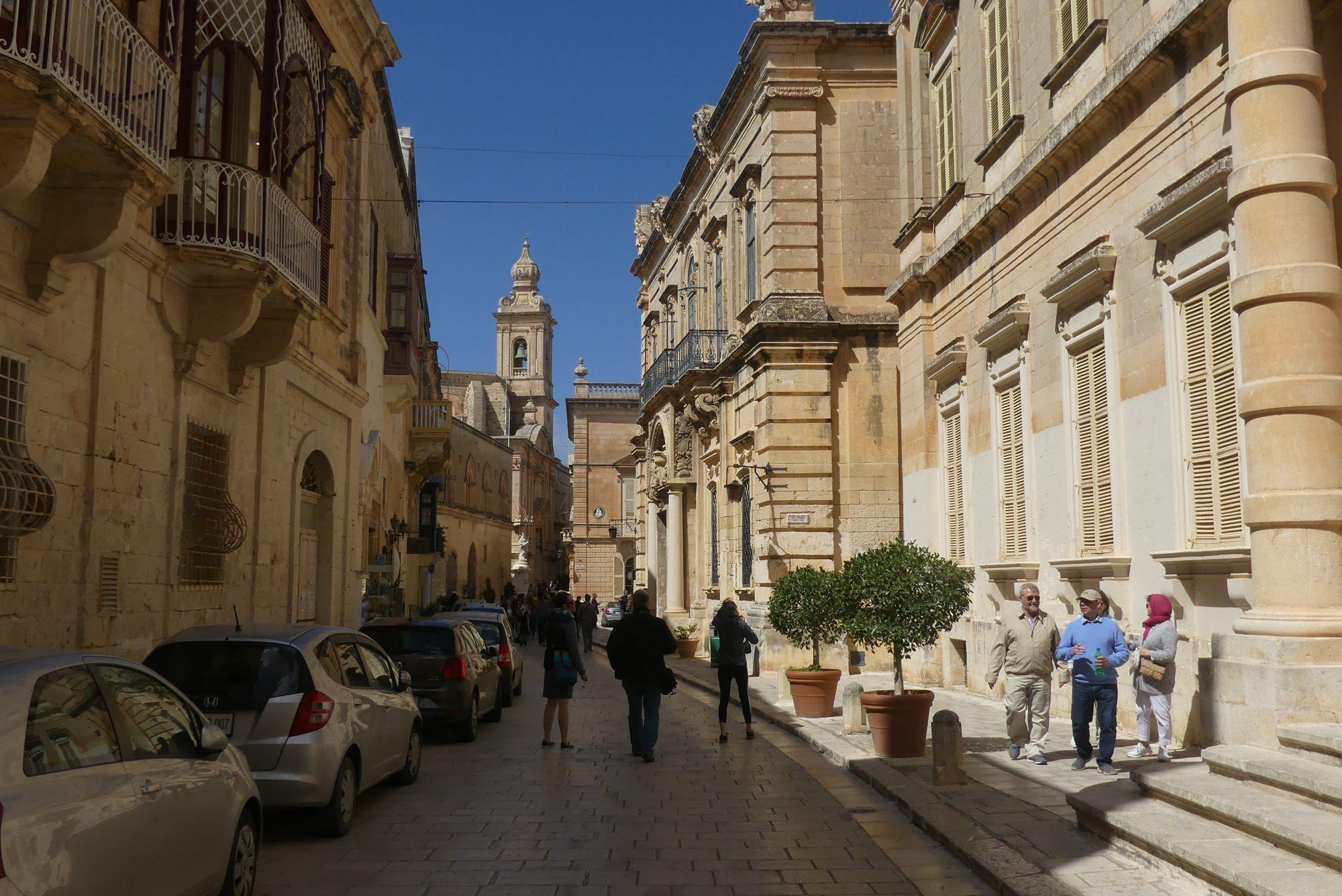 Straße in Mdina Malta