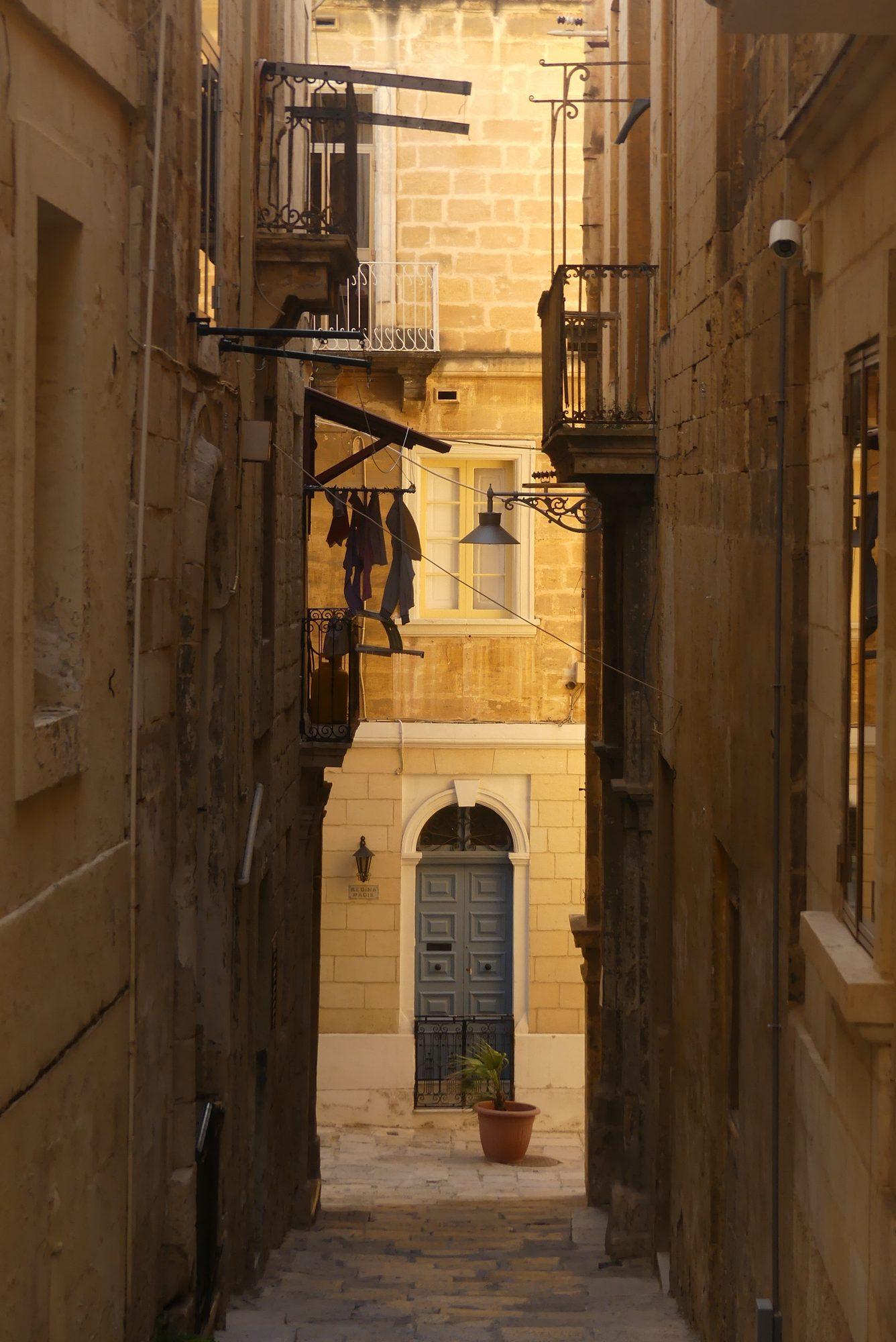 Gasse in Birgu Malta