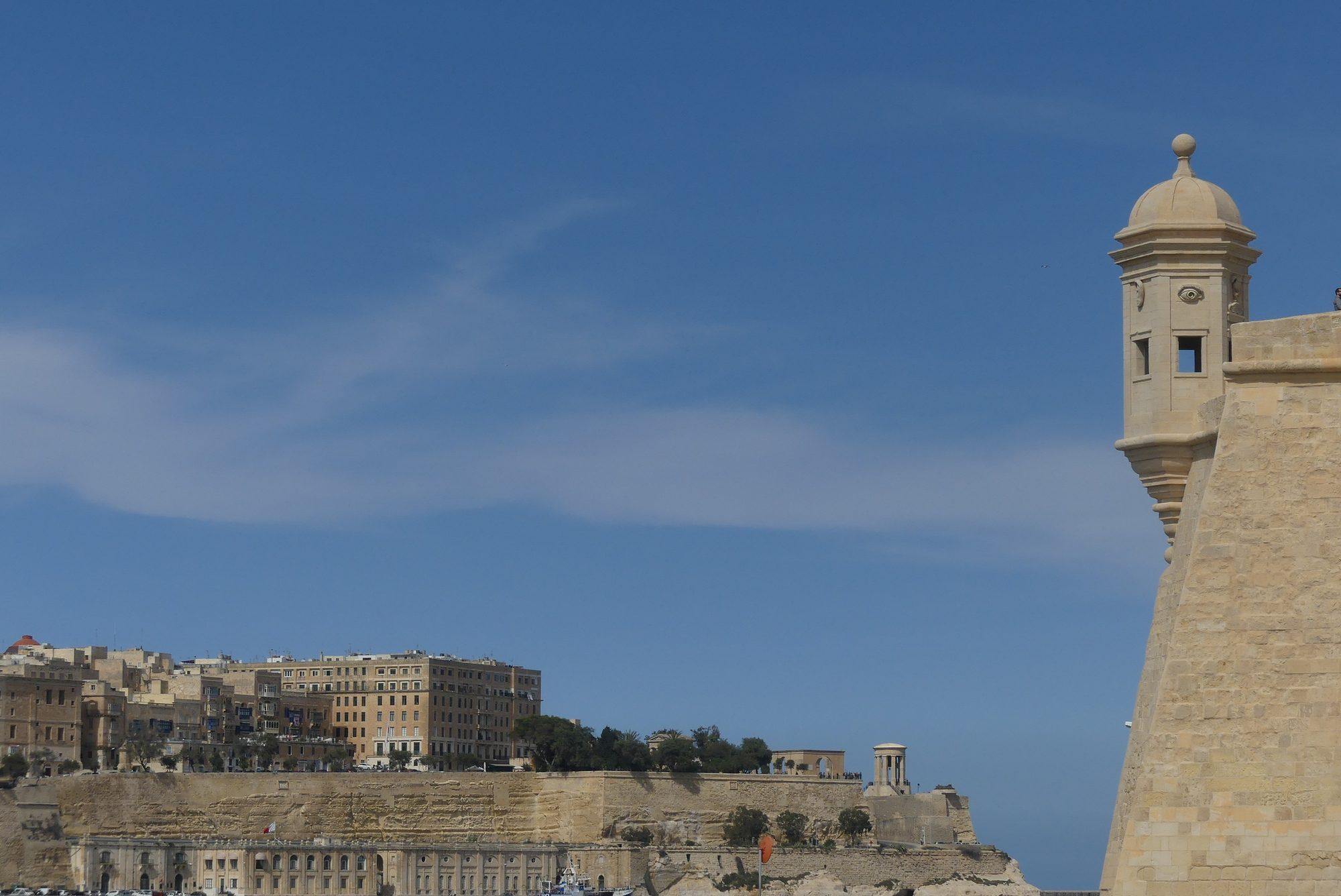 Blick auf Valletta über den Grand Harbour Malta