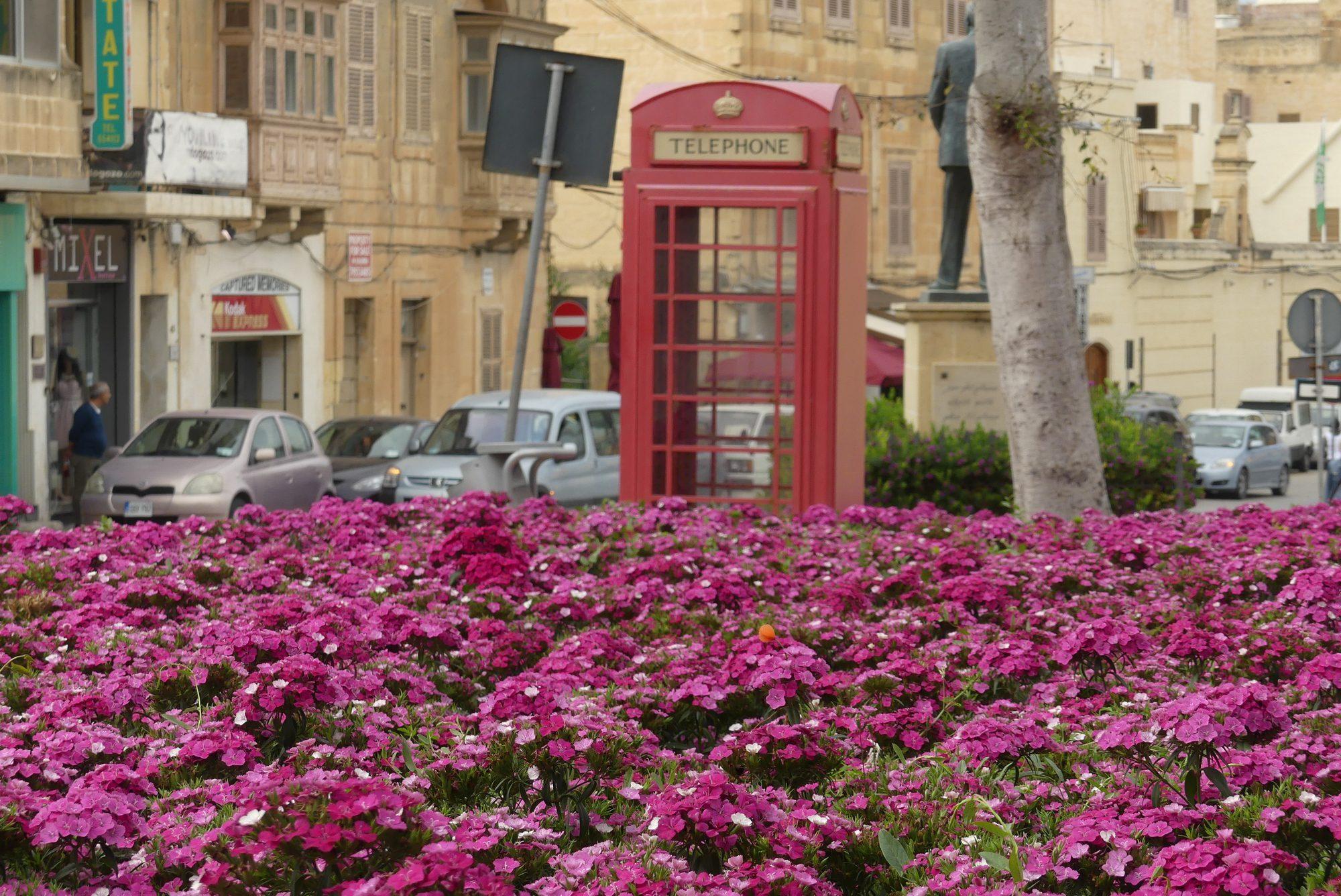 Telefonzelle in Victoria auf Gozo Malta