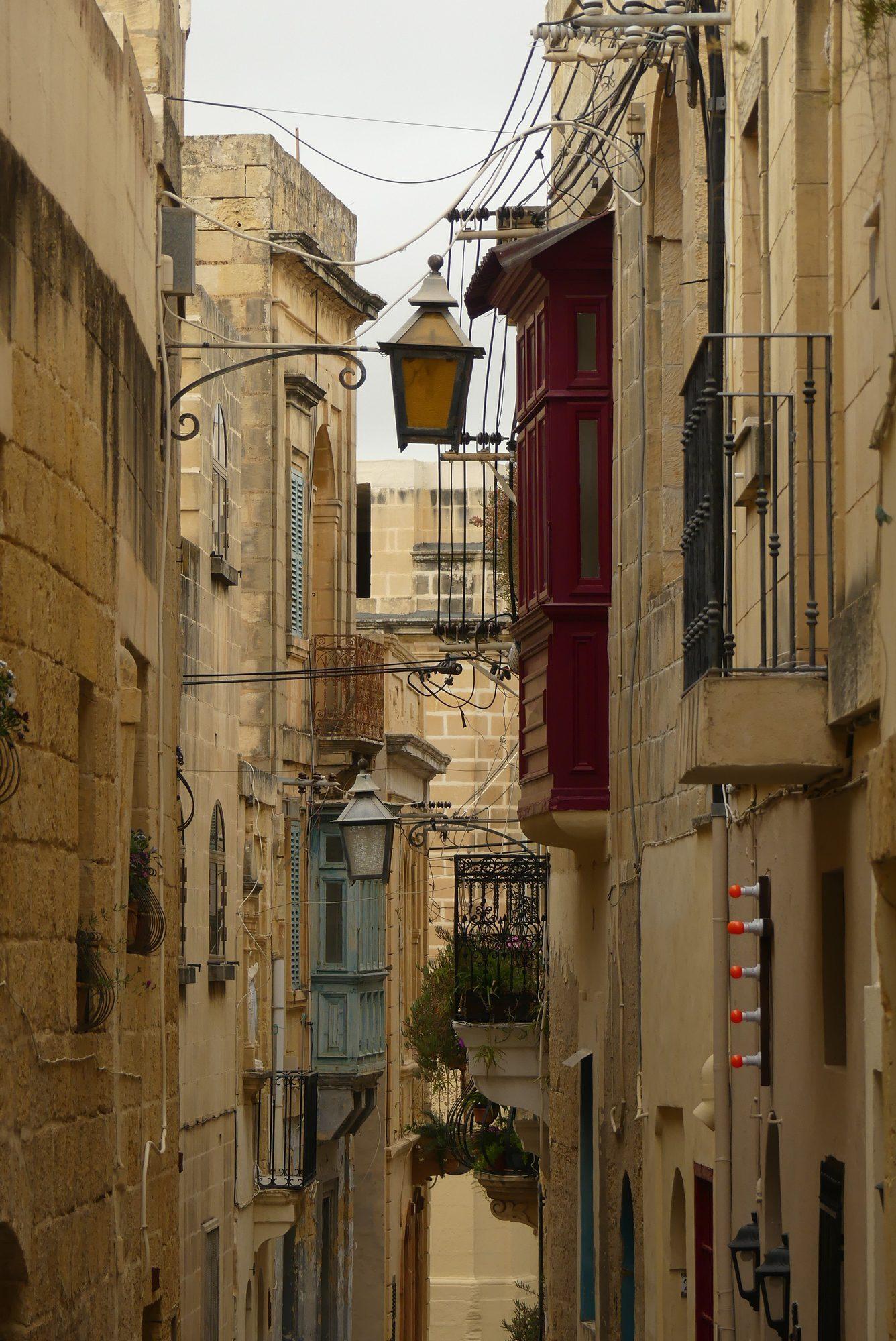 Gasse in Victoria auf Gozo Malta