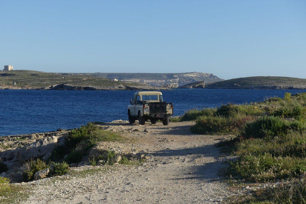 Gozo Blick auf Comino und Malta