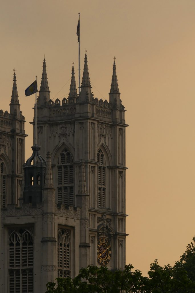 London Westminster Abbey Abends