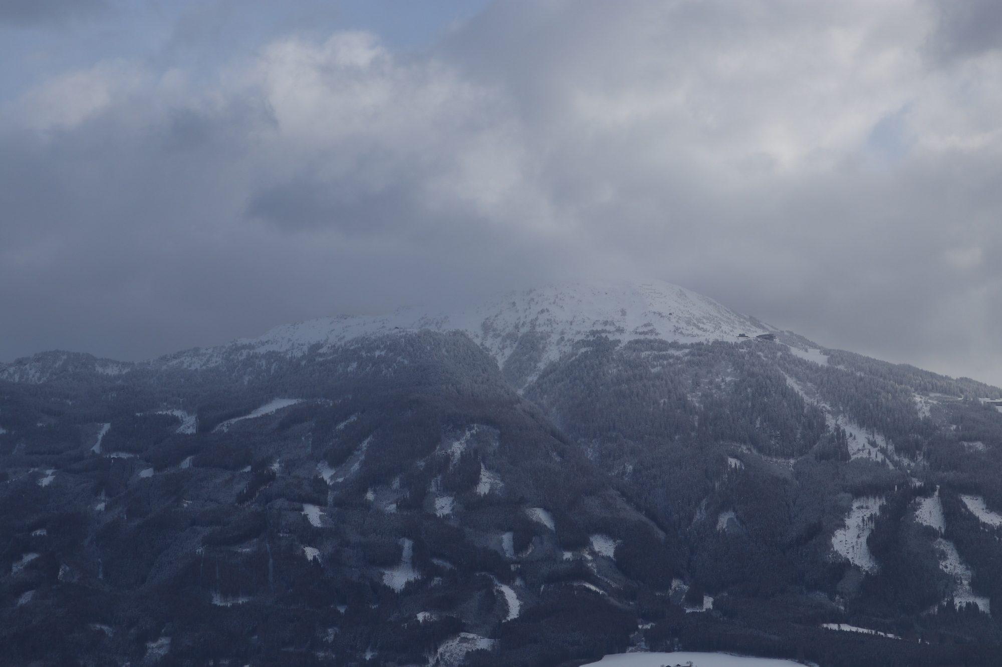 Aussicht auf die Berge vom Alpenzoo Innsbruck aus