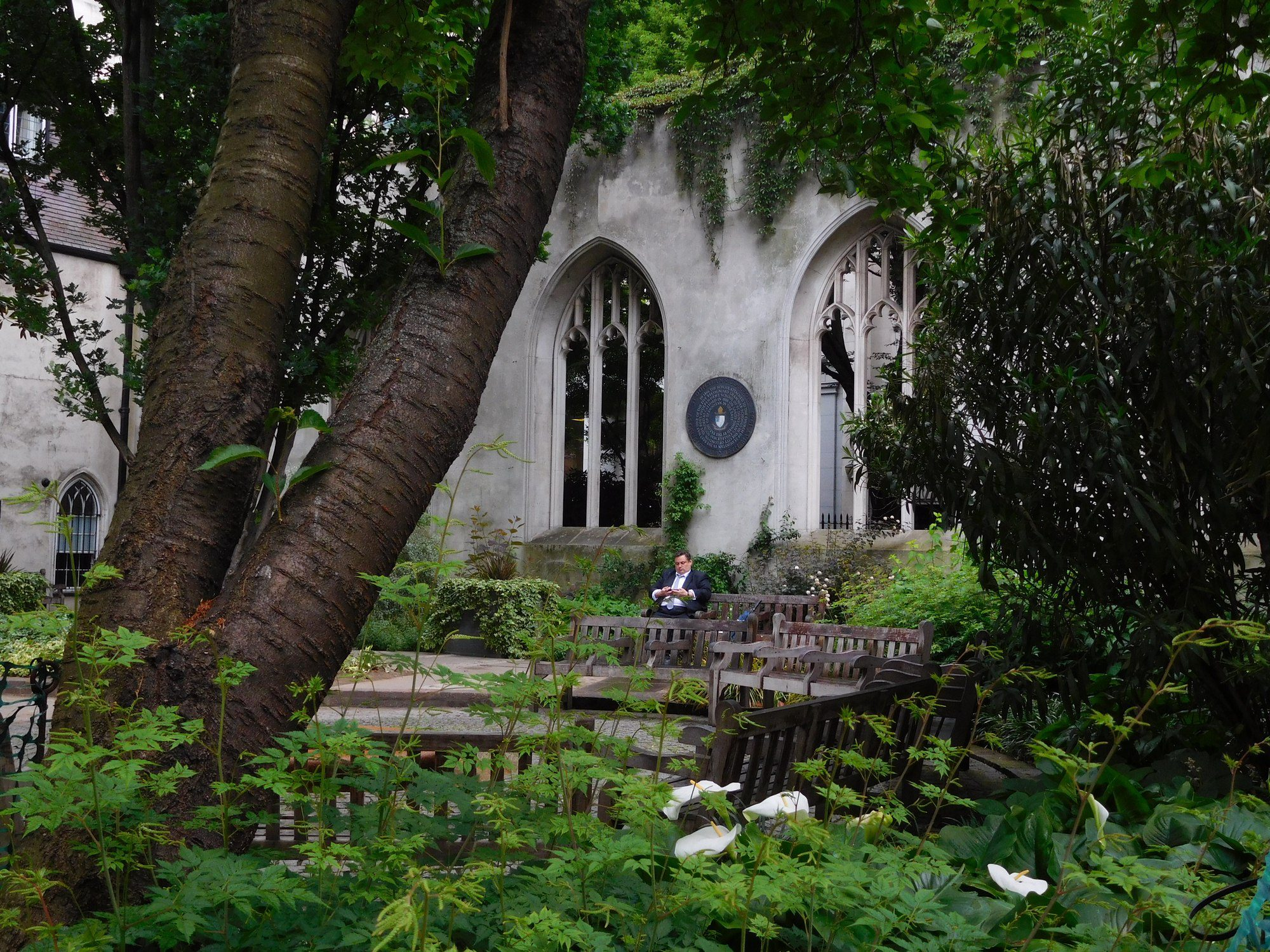 Ruine von St. Dunstan in the East in London