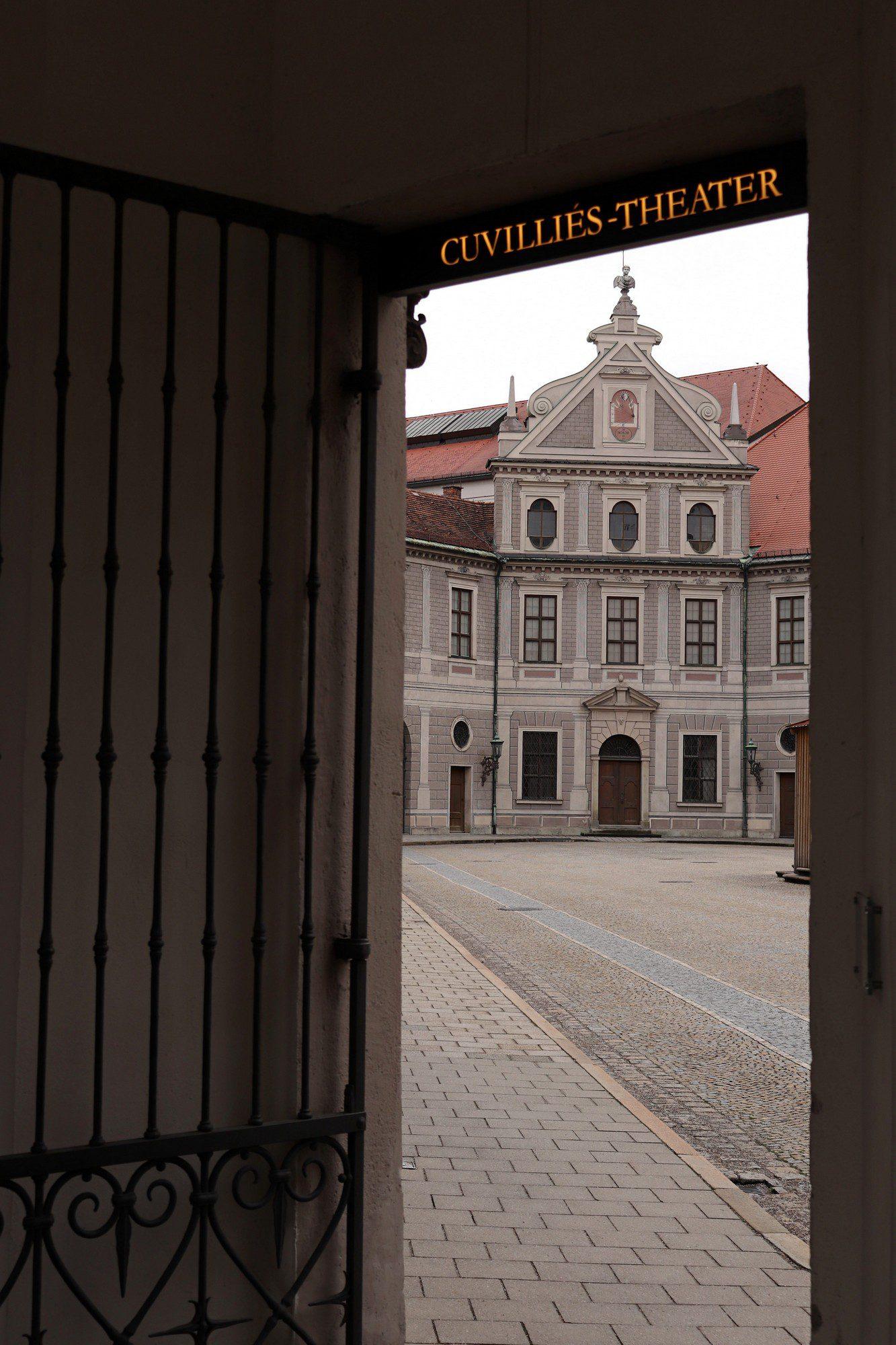 Blick in einen Innenhof der Münchner Residenz