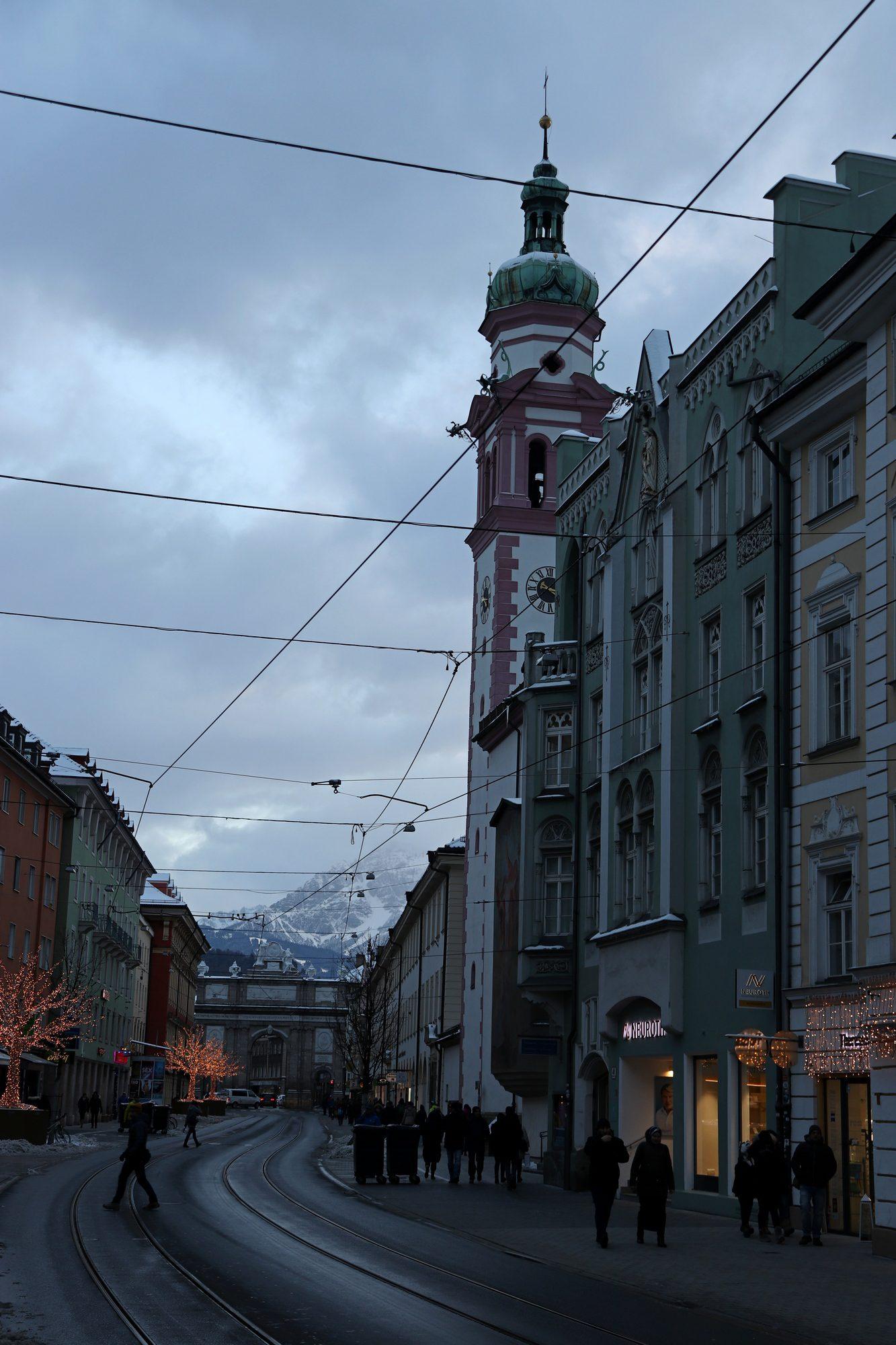Die Maria-Theresienstraße in Innsbruck