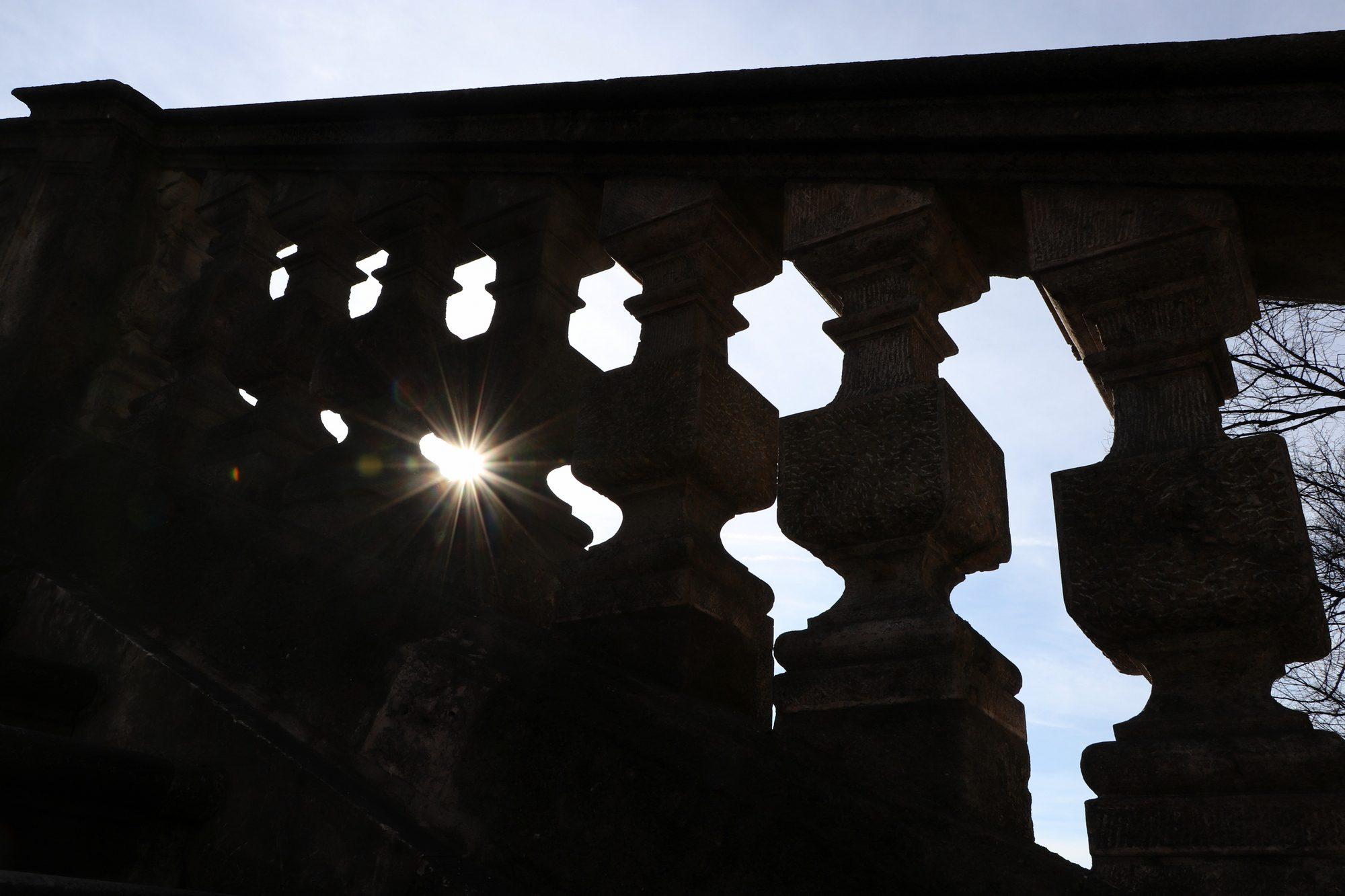 Treppe am Münchner Friedensengel