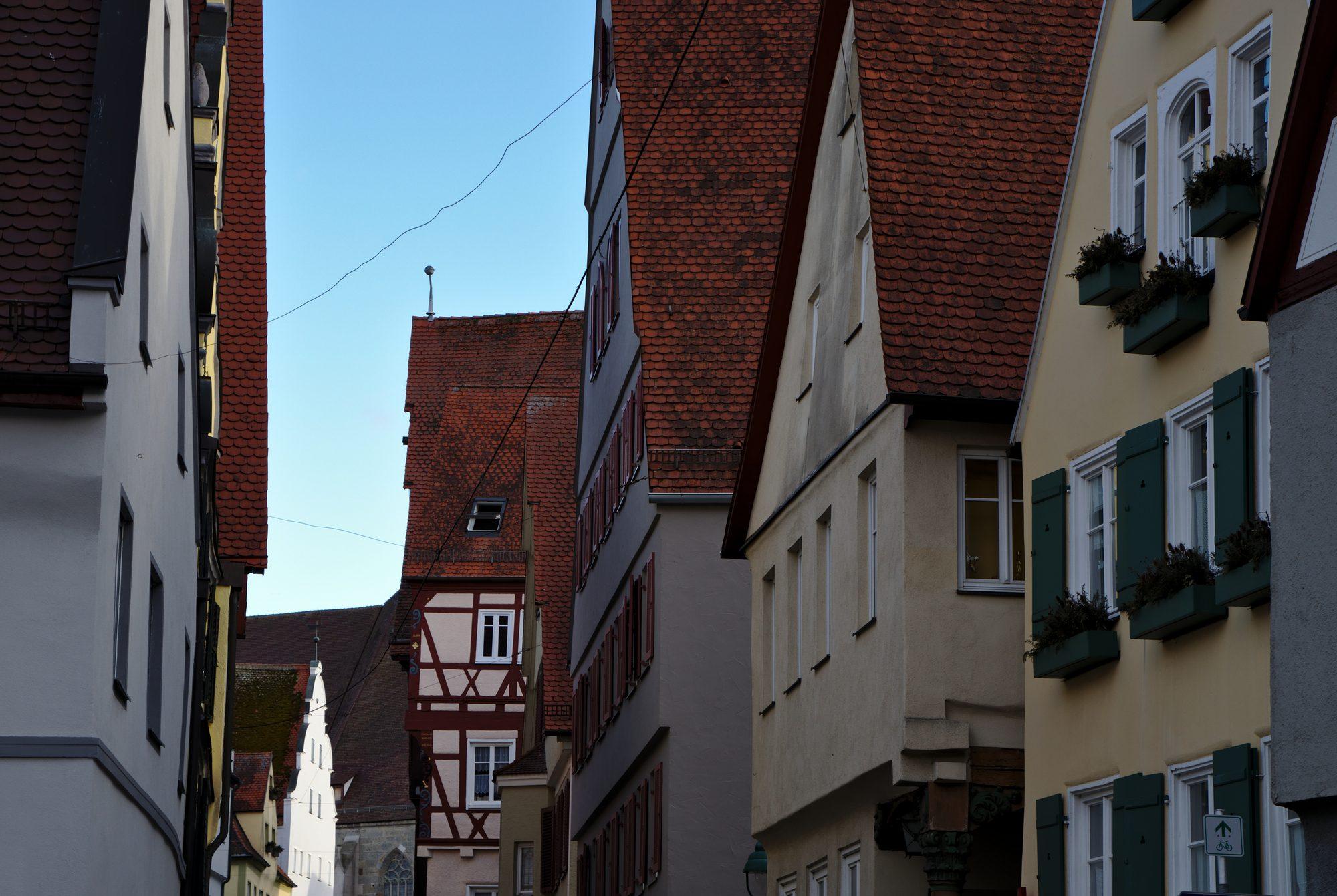 Gasse in Nördlingen