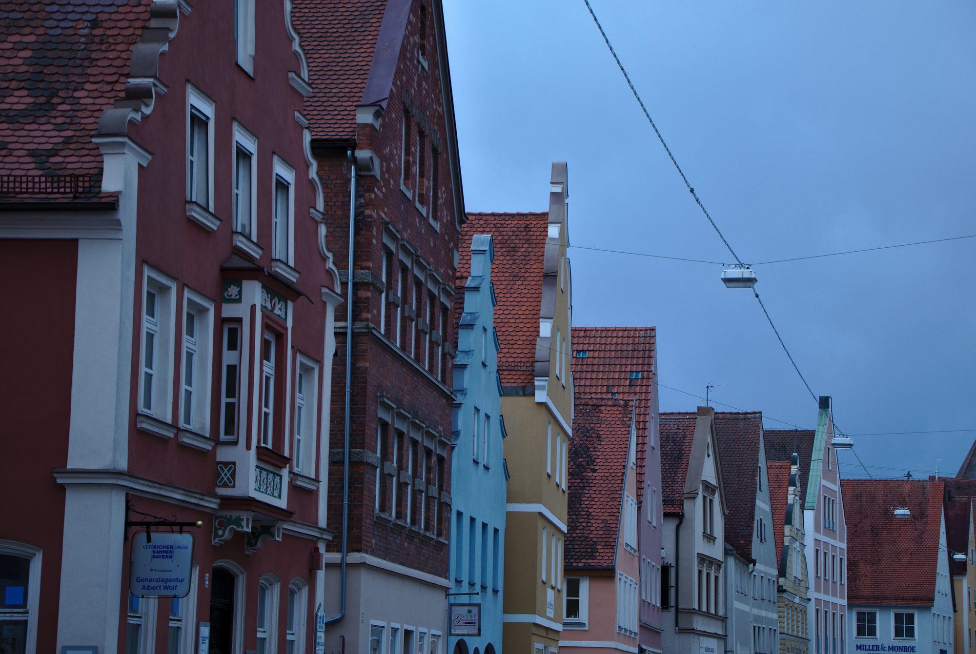 Häuserzeile in der Altstadt von Nördlingen