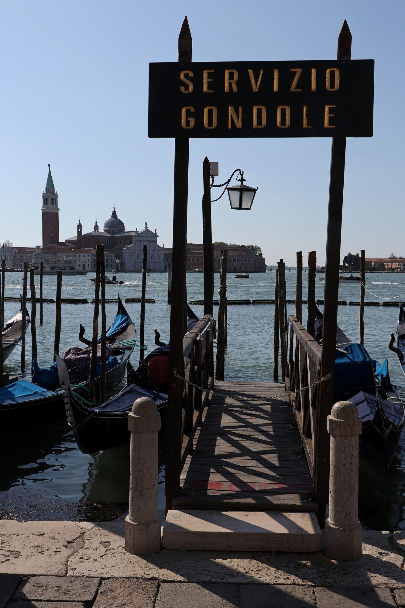 Blick auf San Giorgio Maggiore in Venedig