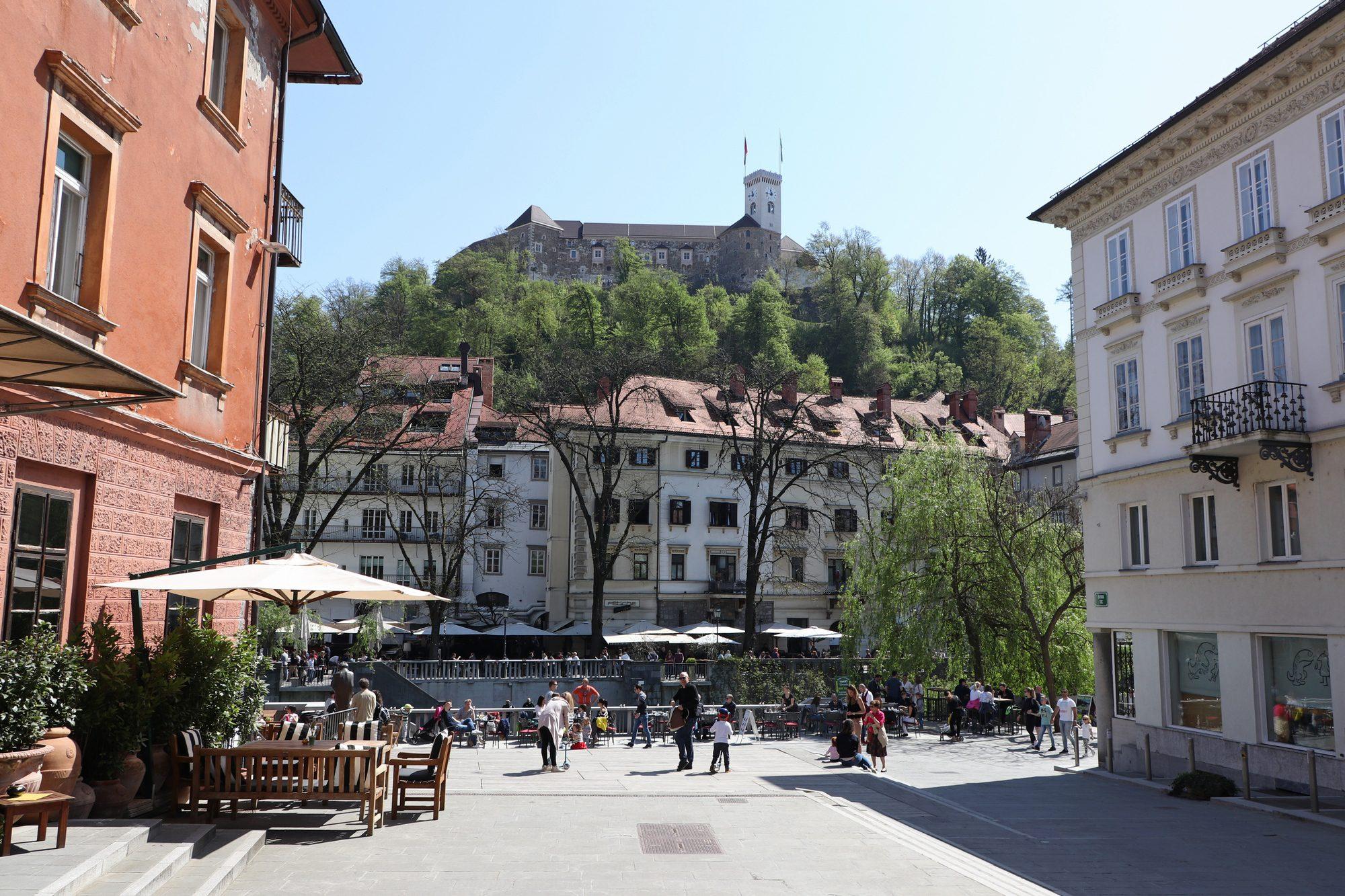 Die Altstadt und die Burg von Ljubljana