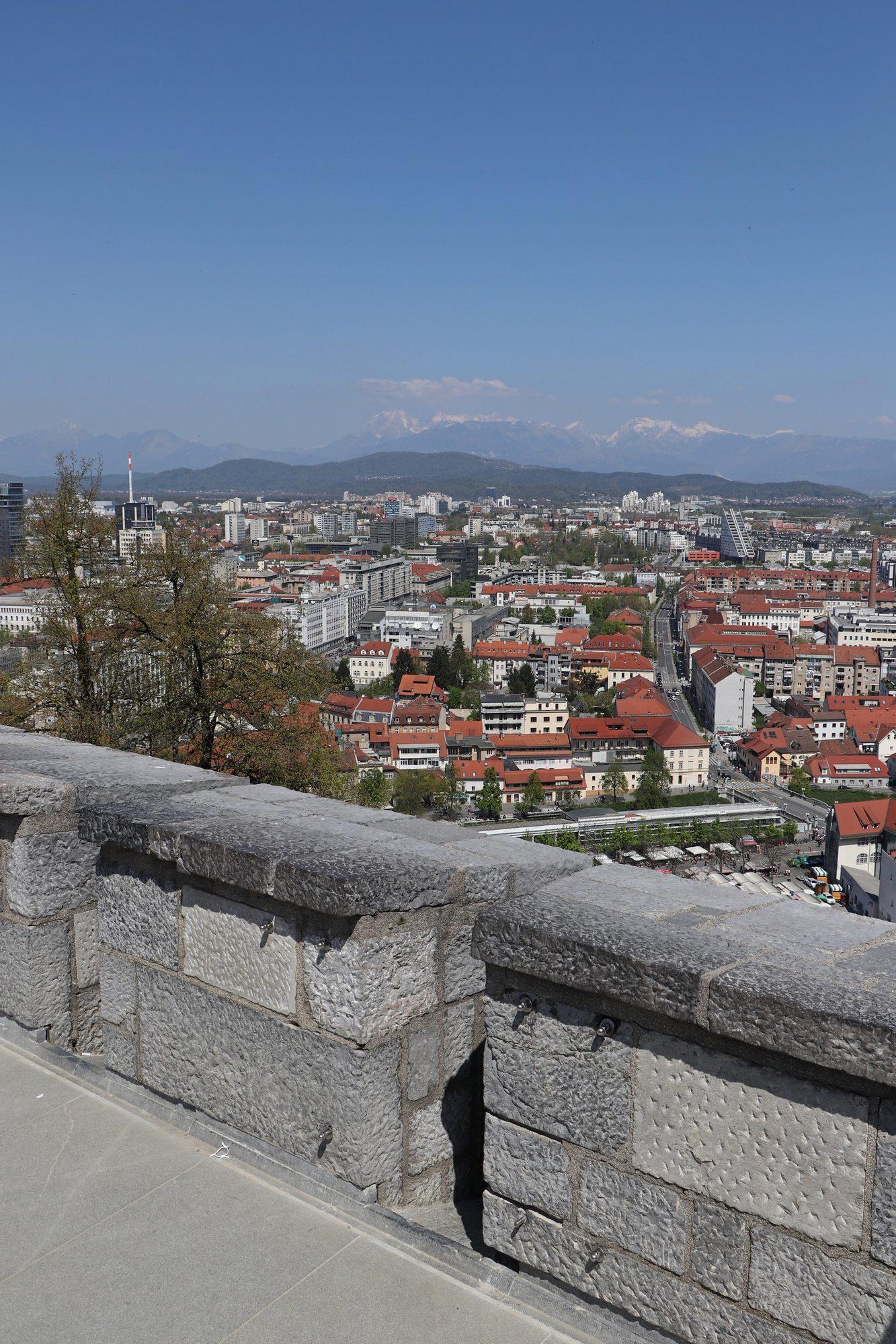 Blick von der Burg auf Ljubljana