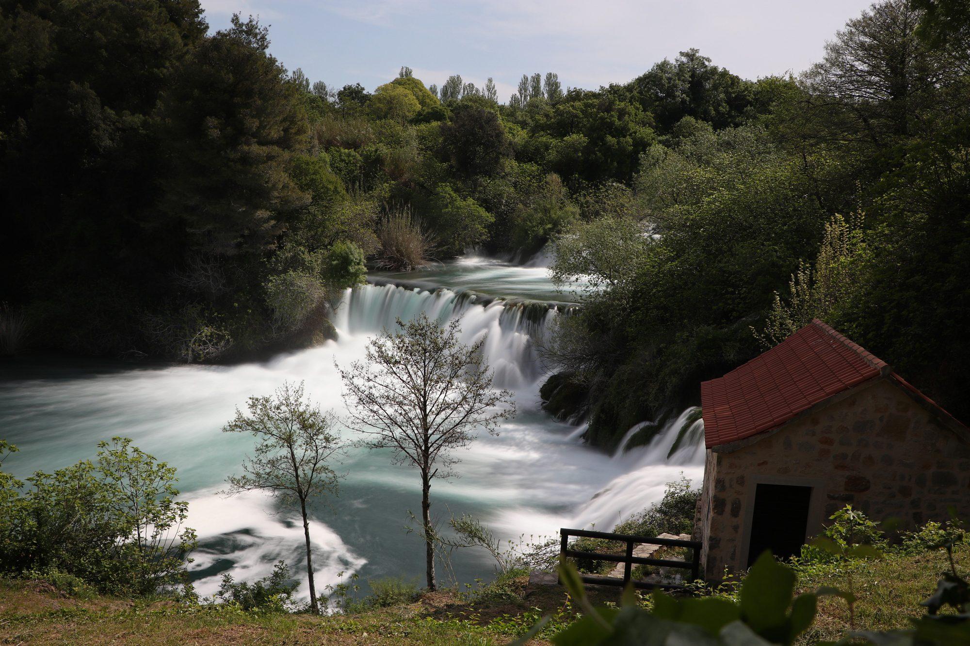 Wasserfälle im Krka-Nationalpark in Kroatien