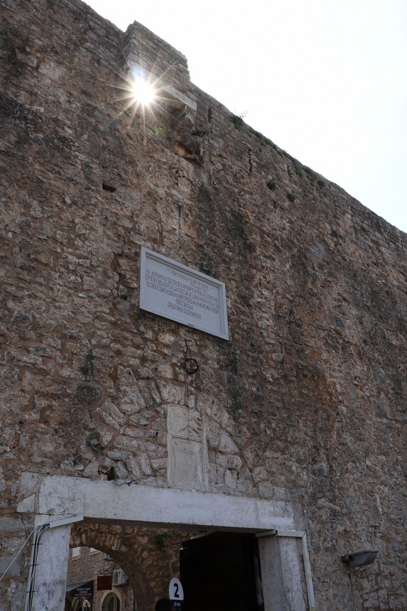 Stadtmauer von Budva in Montenegro
