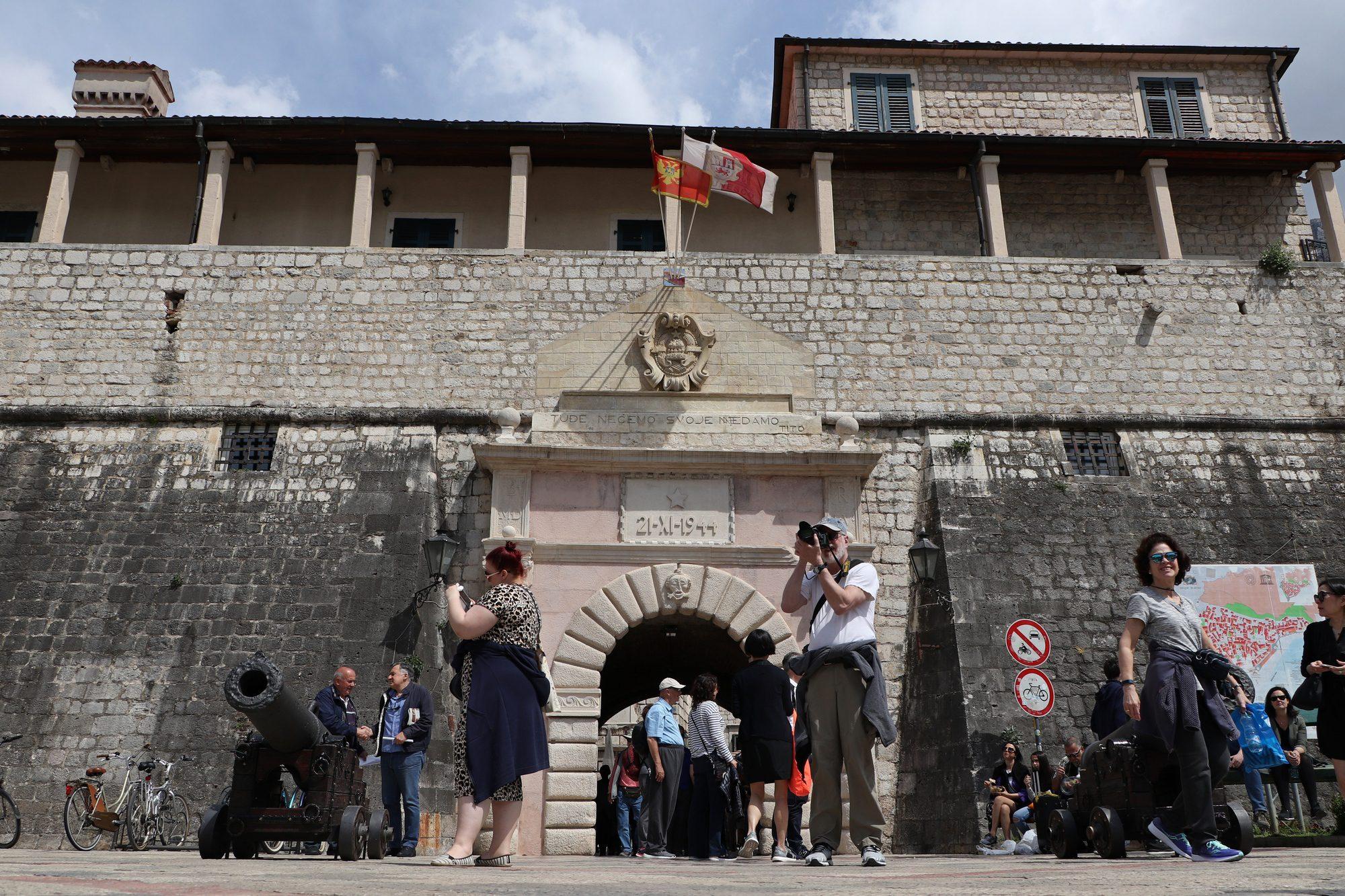 Stadtmauer von Kotor in Montenegro