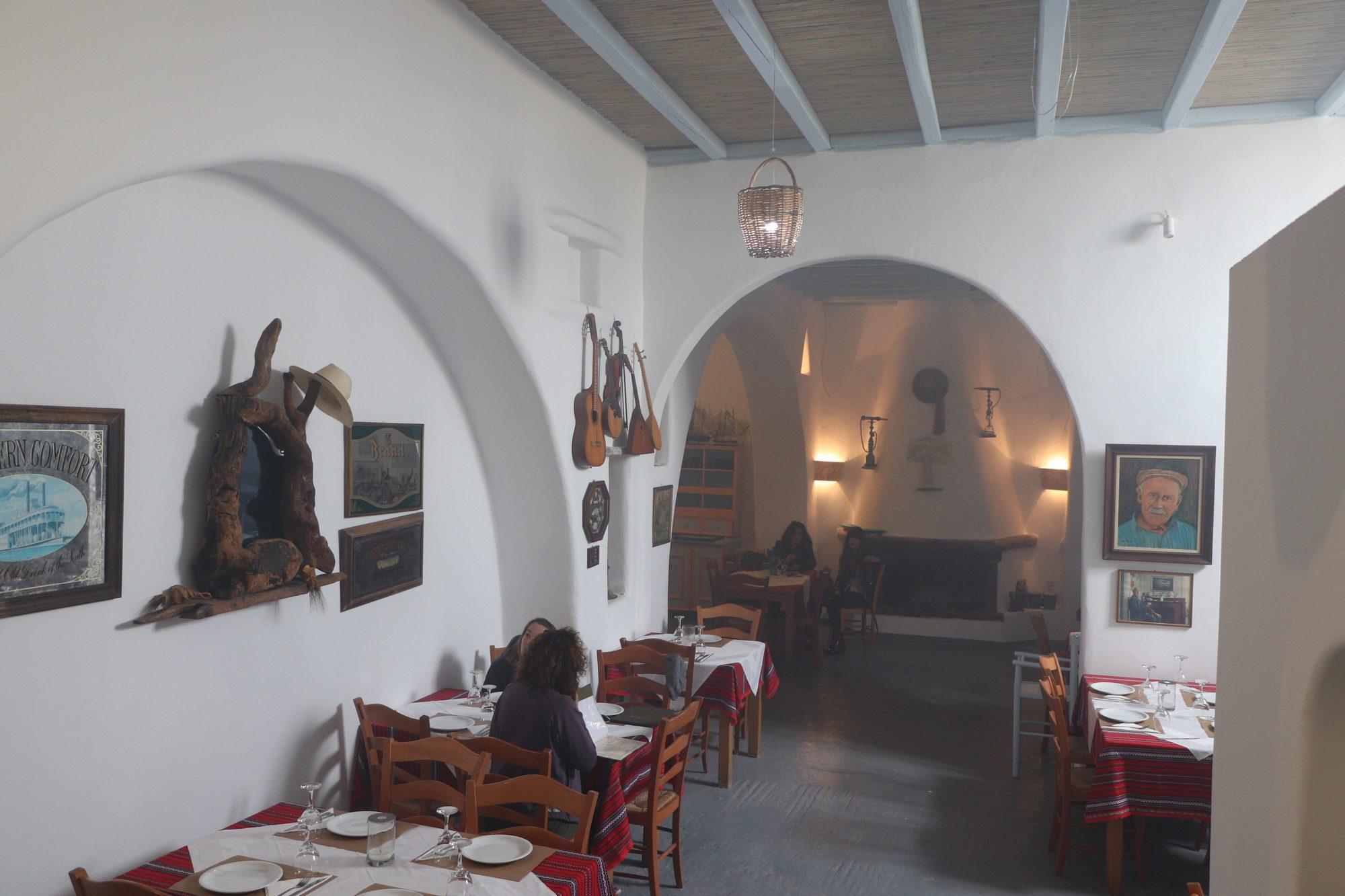 Taverne in Ano Mera auf Mykonos
