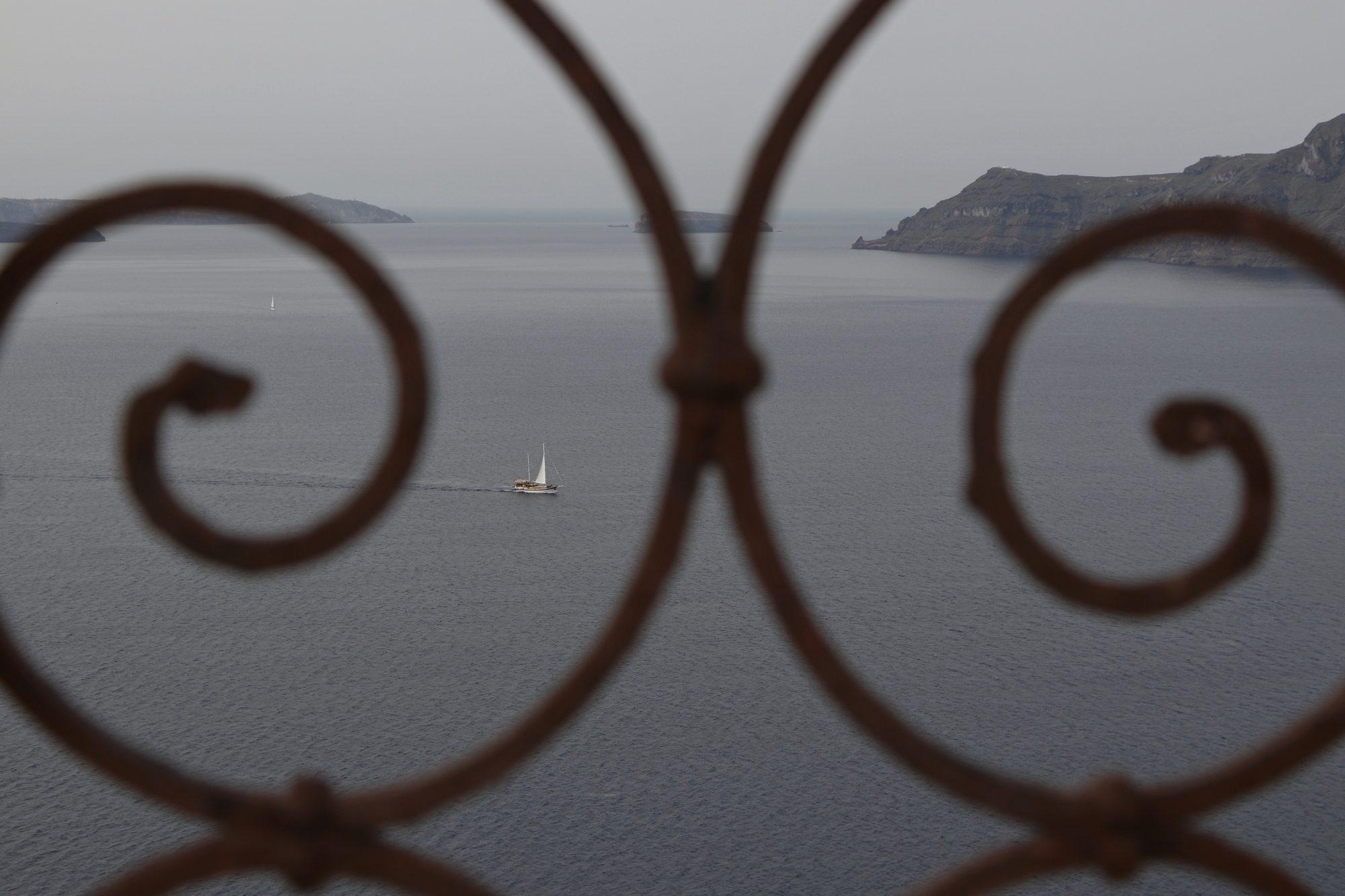 Blick auf die Caldera von Santorin