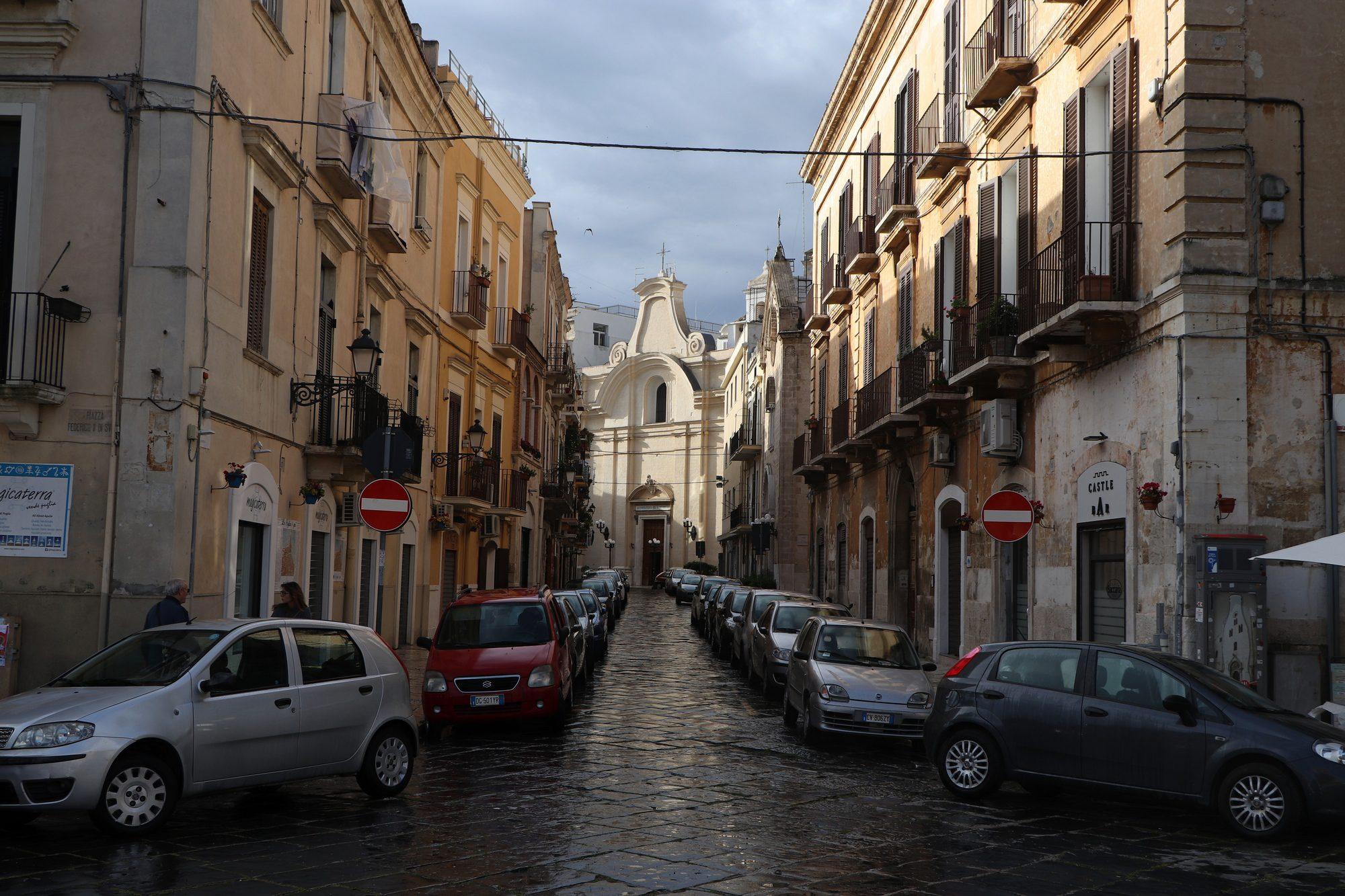 Straße in Bari der Hauptstadt von Apulien