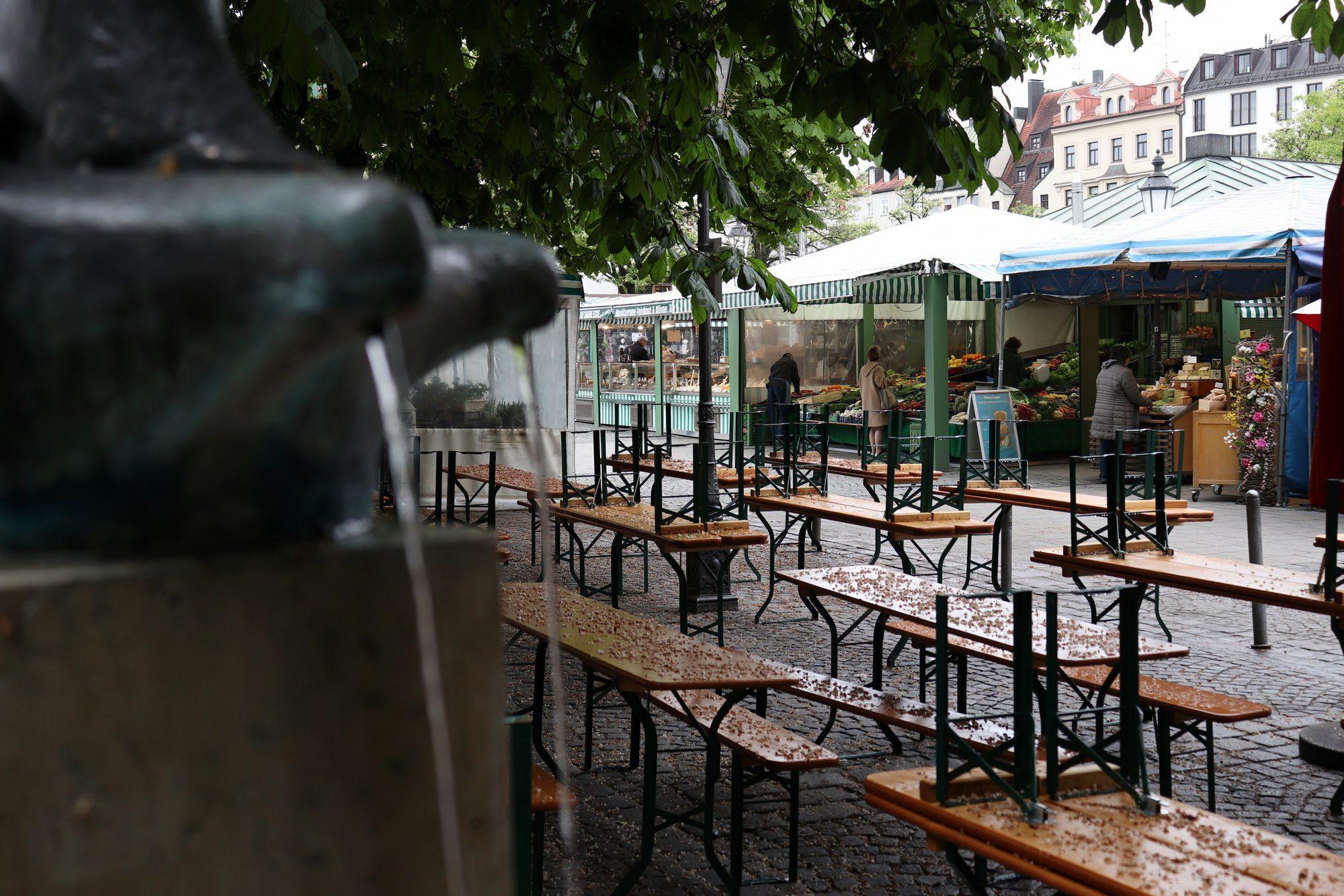 Der Viktualienmarkt in München