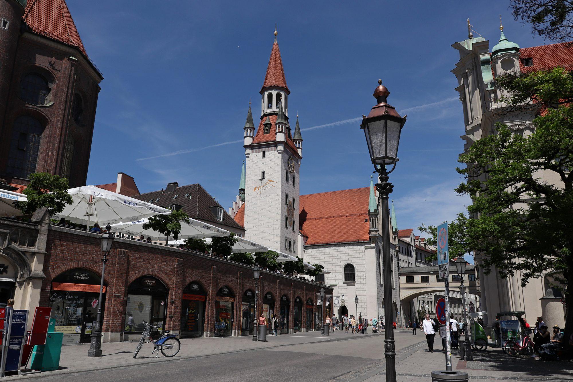 Blick auf das alte Rathaus in München