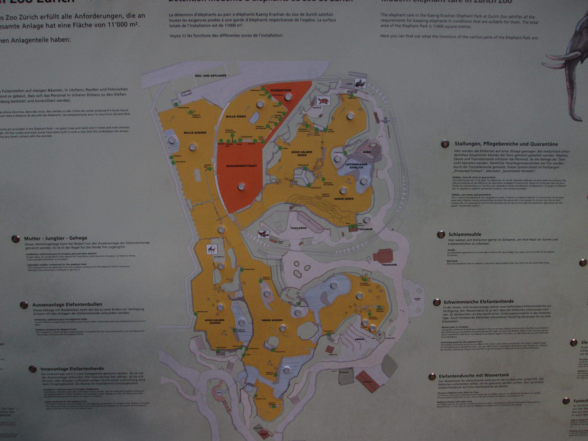 Übersicht Kaeng Krachan Elefantenpark Zoo Zürich
