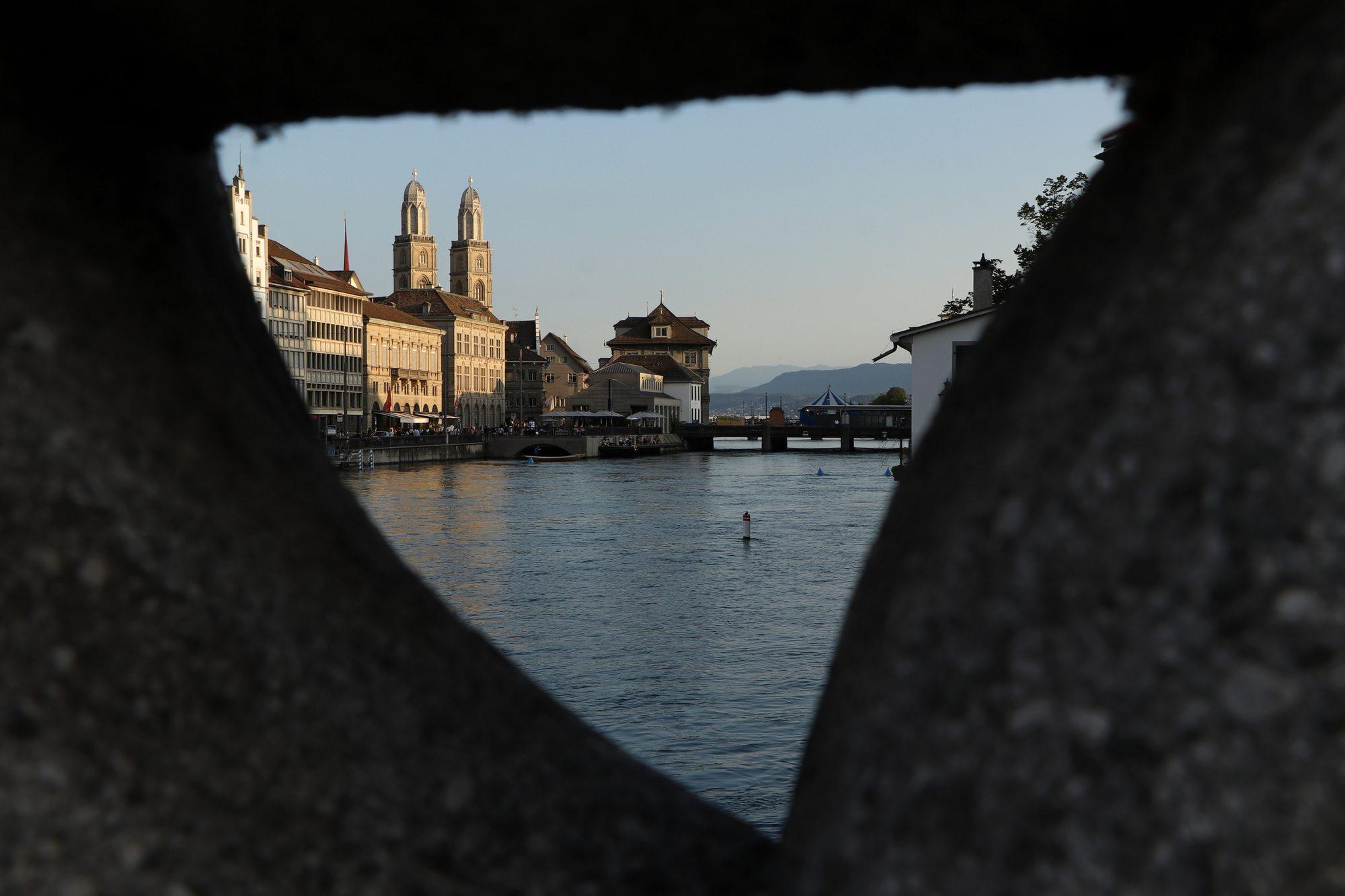 Blick auf das Großmünster Zürich