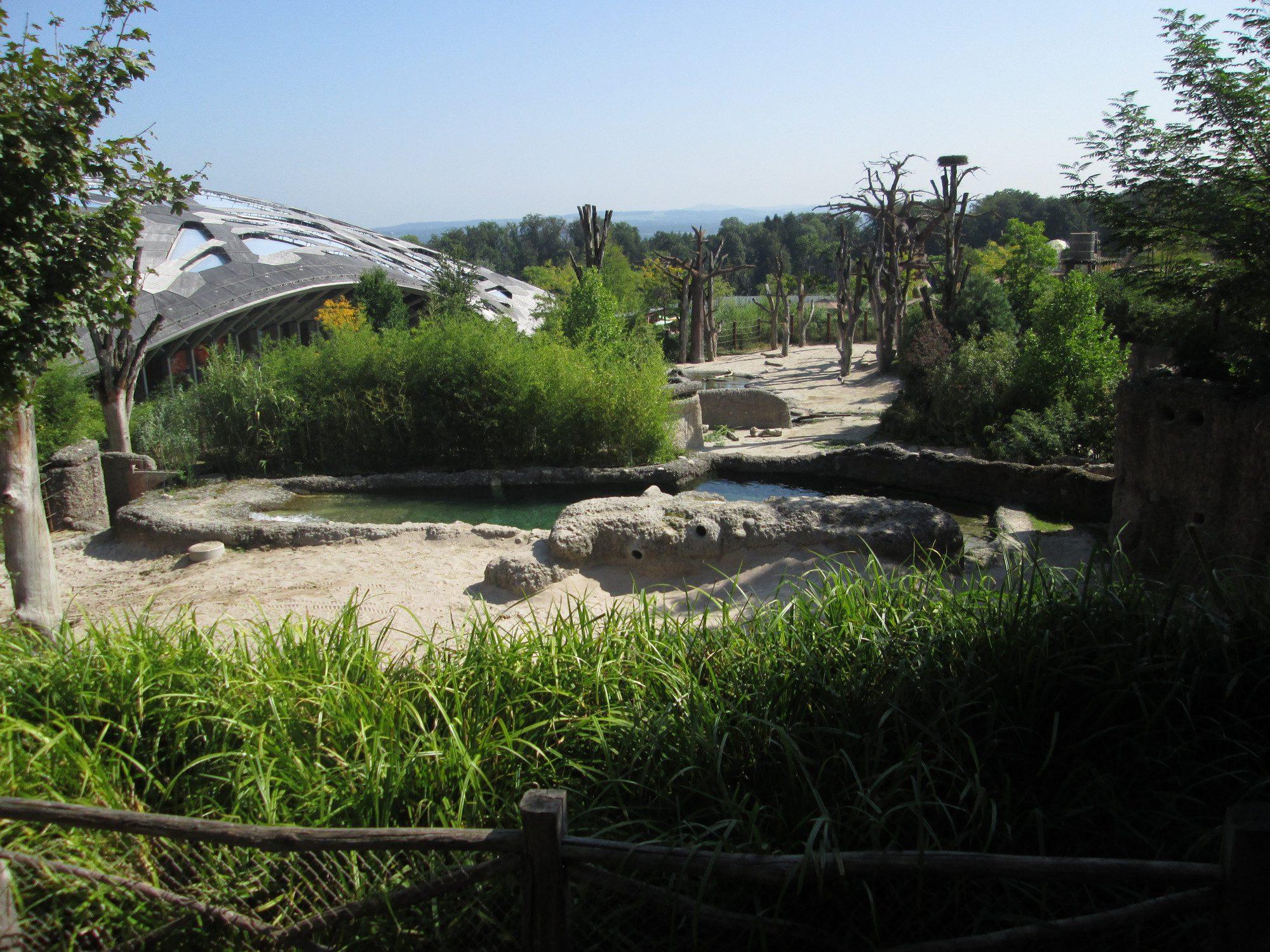 Kaeng Krachan Elefantenpark Zoo Zürich Außengehege