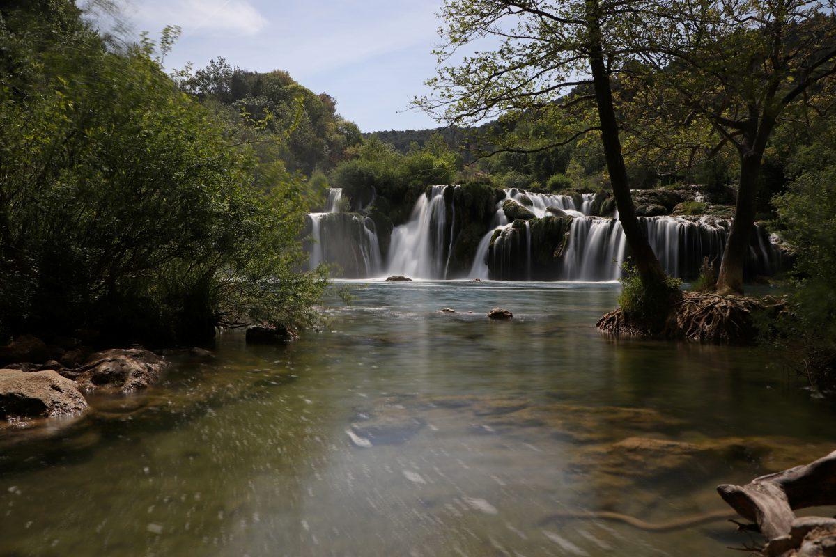 Kroatien Krka-Nationalpark Wasserfälle Langzeitbelichtung
