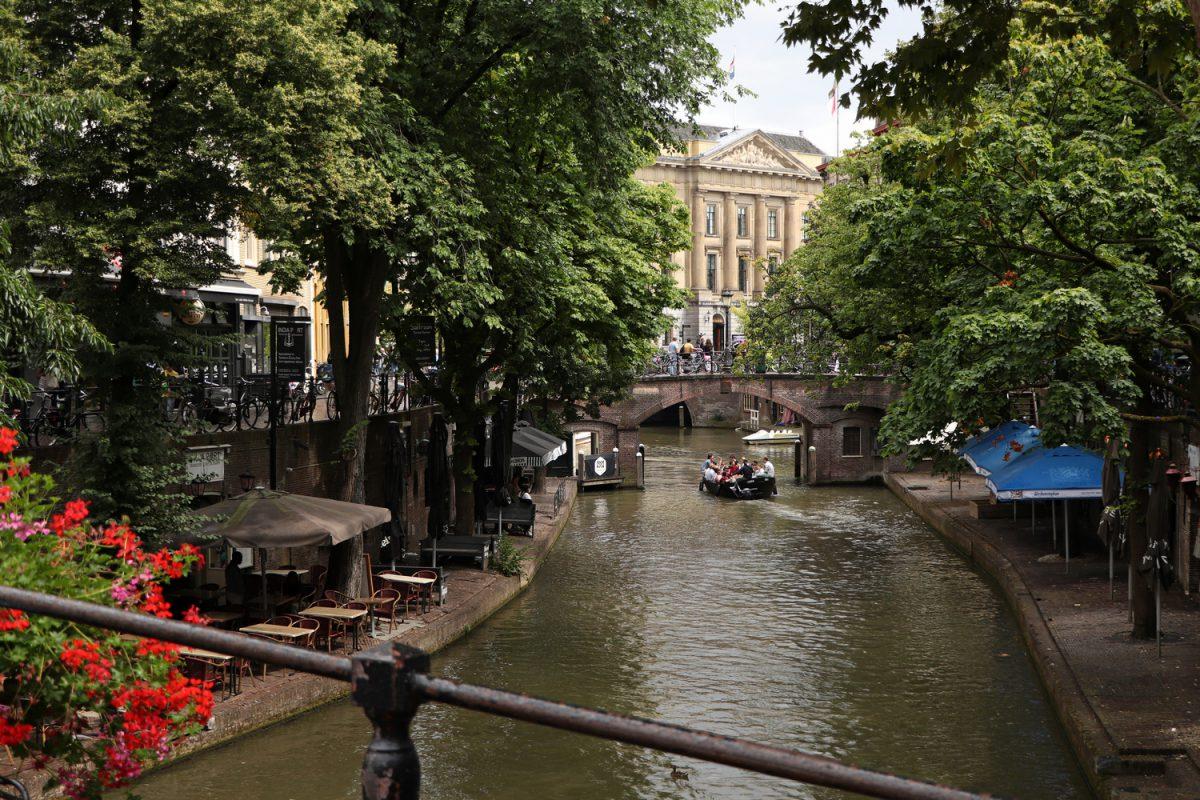 Die Oudegracht in Utrecht