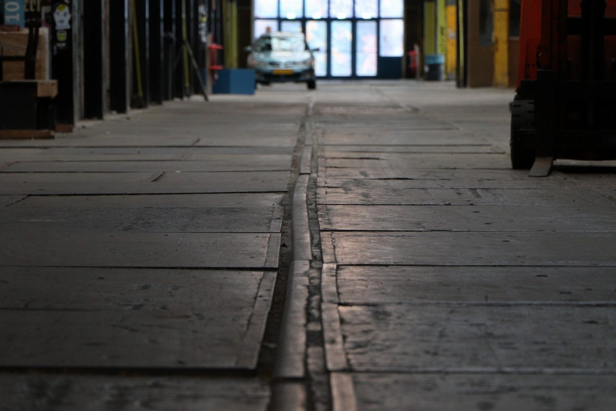 In der NDSM Werft in Amsterdam