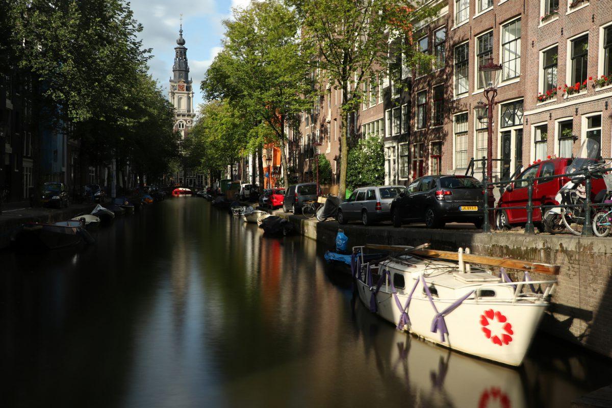 Amsterdam Langzeitbelichtung mit Blick auf die Zuiderkerk