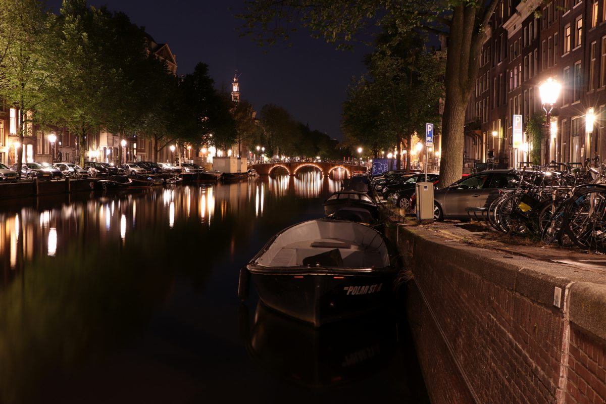 Amsterdam Keizersgracht Abends