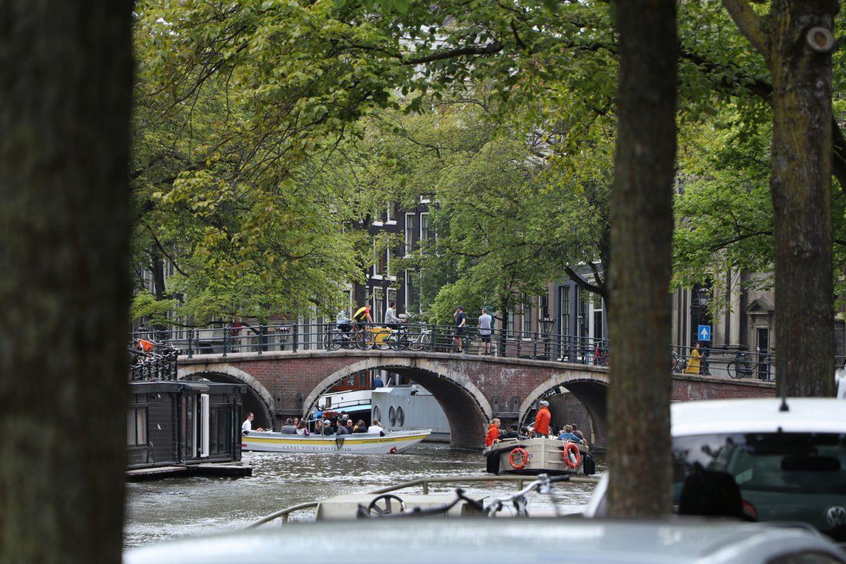 Amsterdam Grachten Brücke
