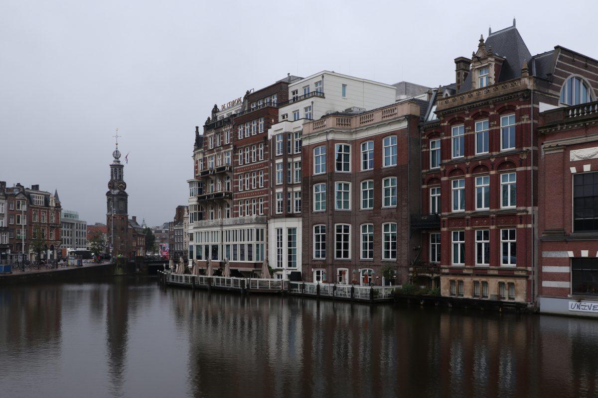 Amsterdam der Munttoren an der Amstel