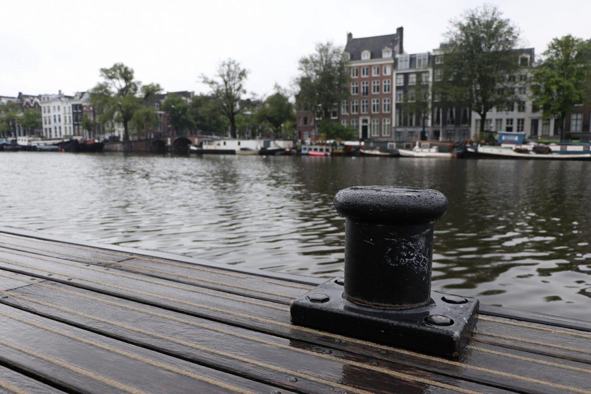 Amsterdam Häuser entlang der Amstel