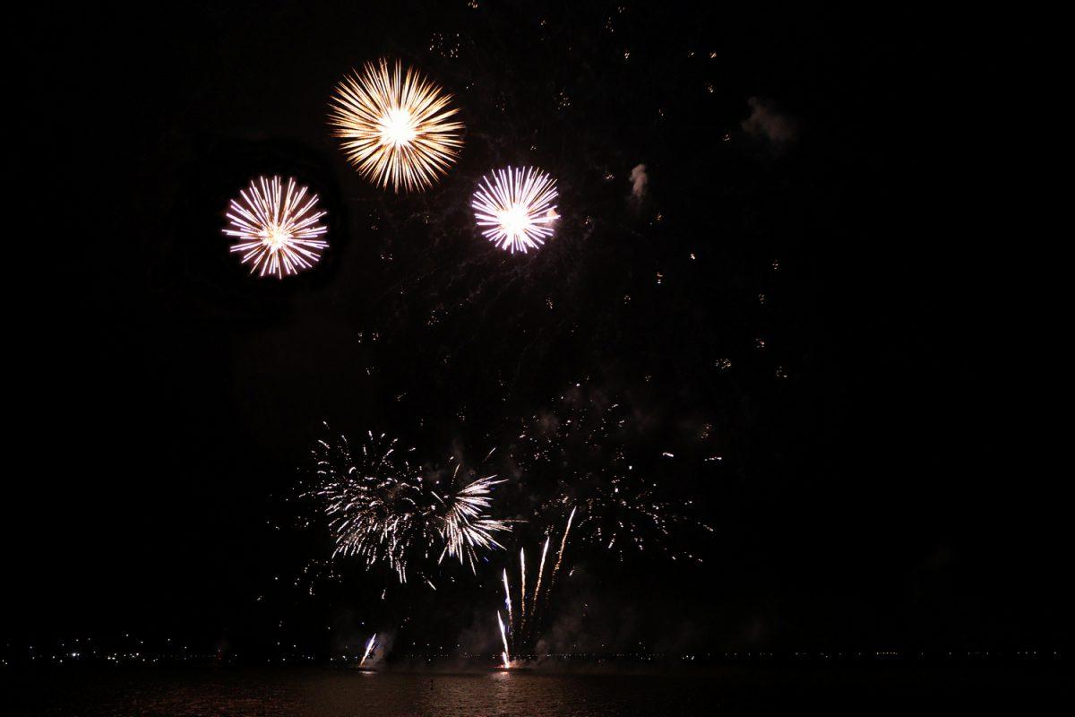 Feuerwerk in Hoorn in Nordholland