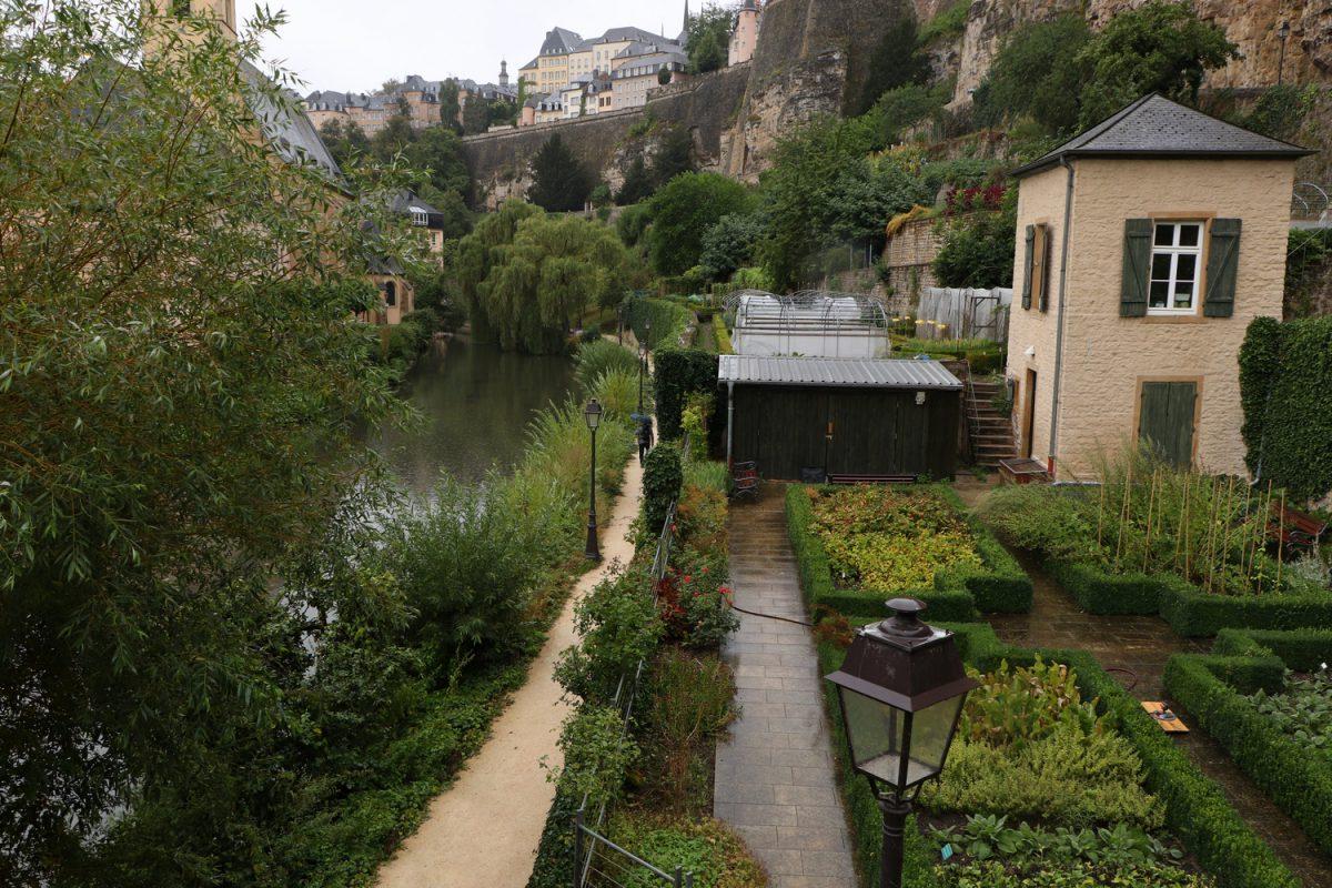 Luxemburg Grund Blick auf die Oberstadt