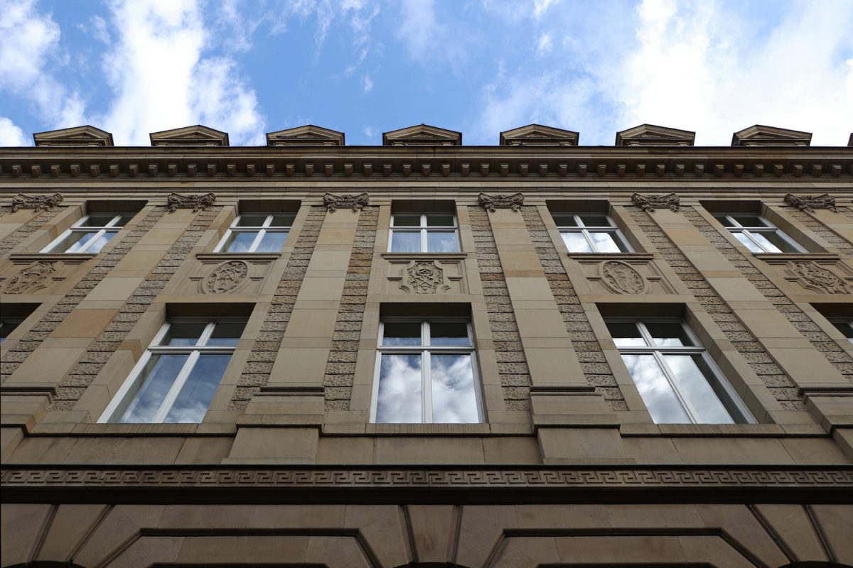 Luxemburg Häuserfassade in der Oberstadt