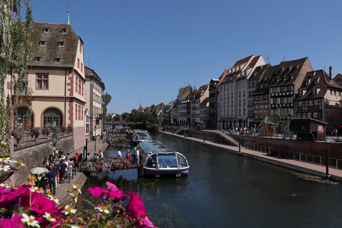 Straßburg Häuser entlang der Ill