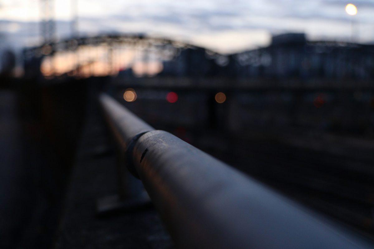München Hackerbrücke im Sonnenuntergang