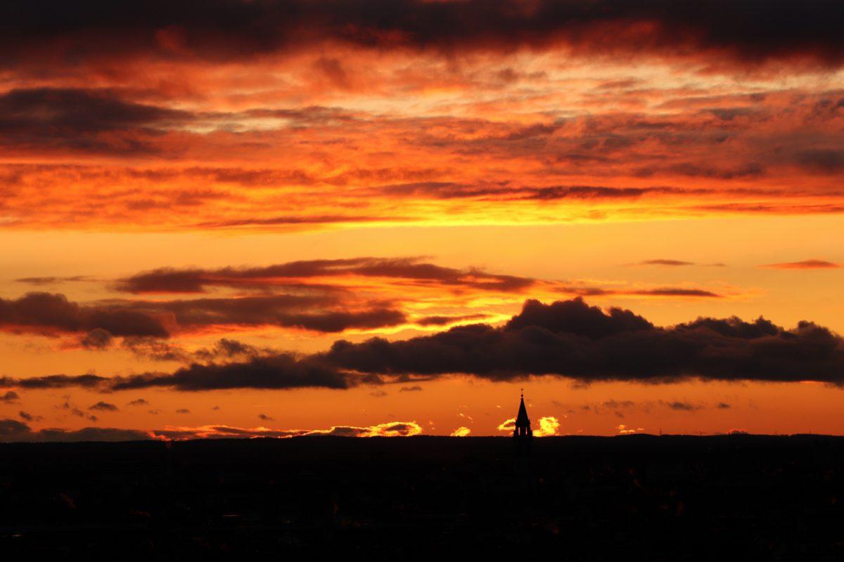 München Blick vom Alten Peter Sonnenuntergang