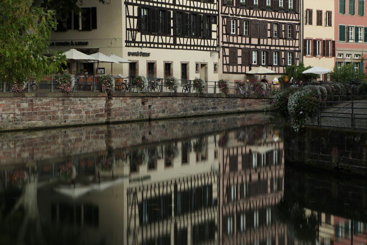Straßburg Petite France Langzeitbelichtung Fachwerkhäuser